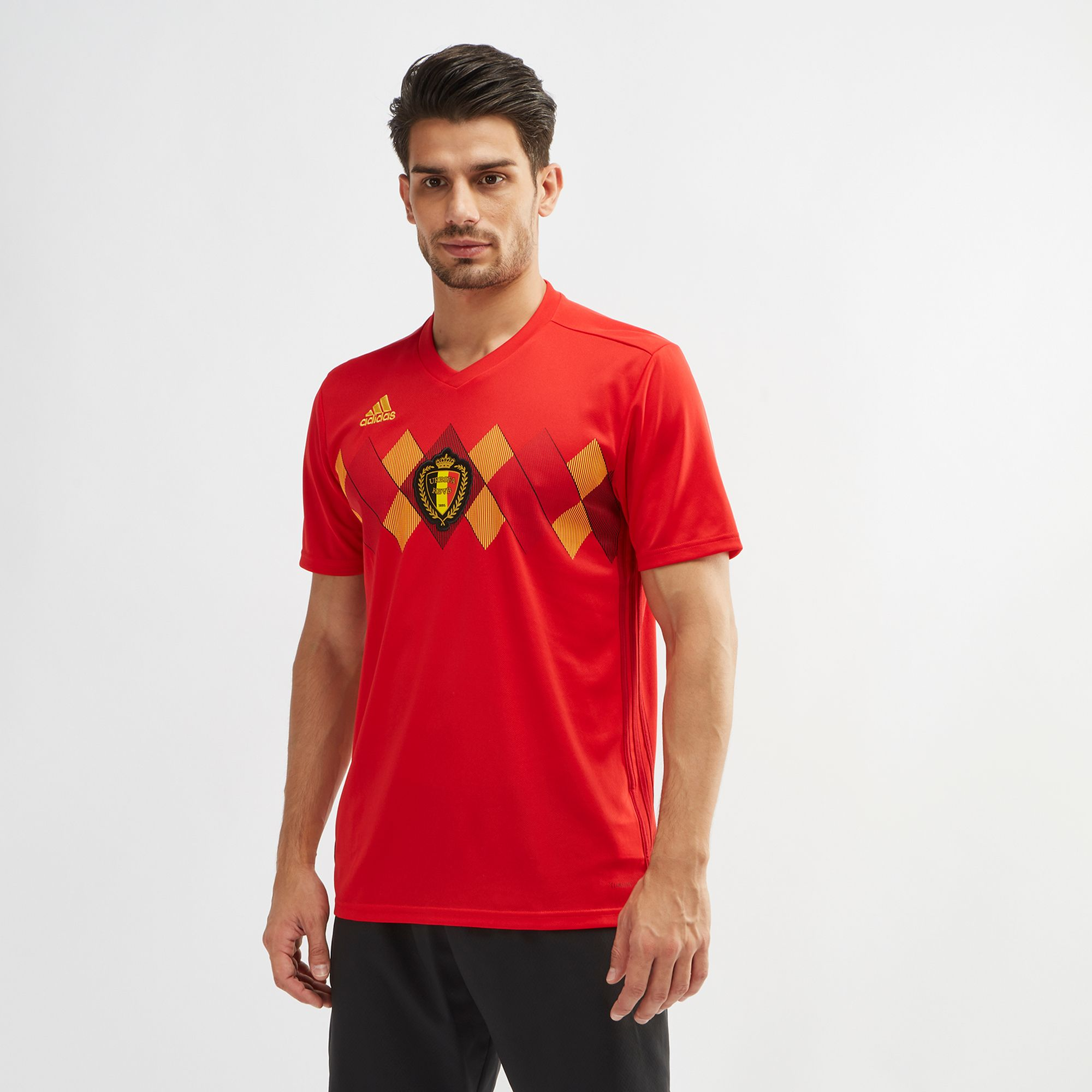 b51600ada Shop Red adidas Belgium Home Football Jersey 2018 for Mens by adidas ...