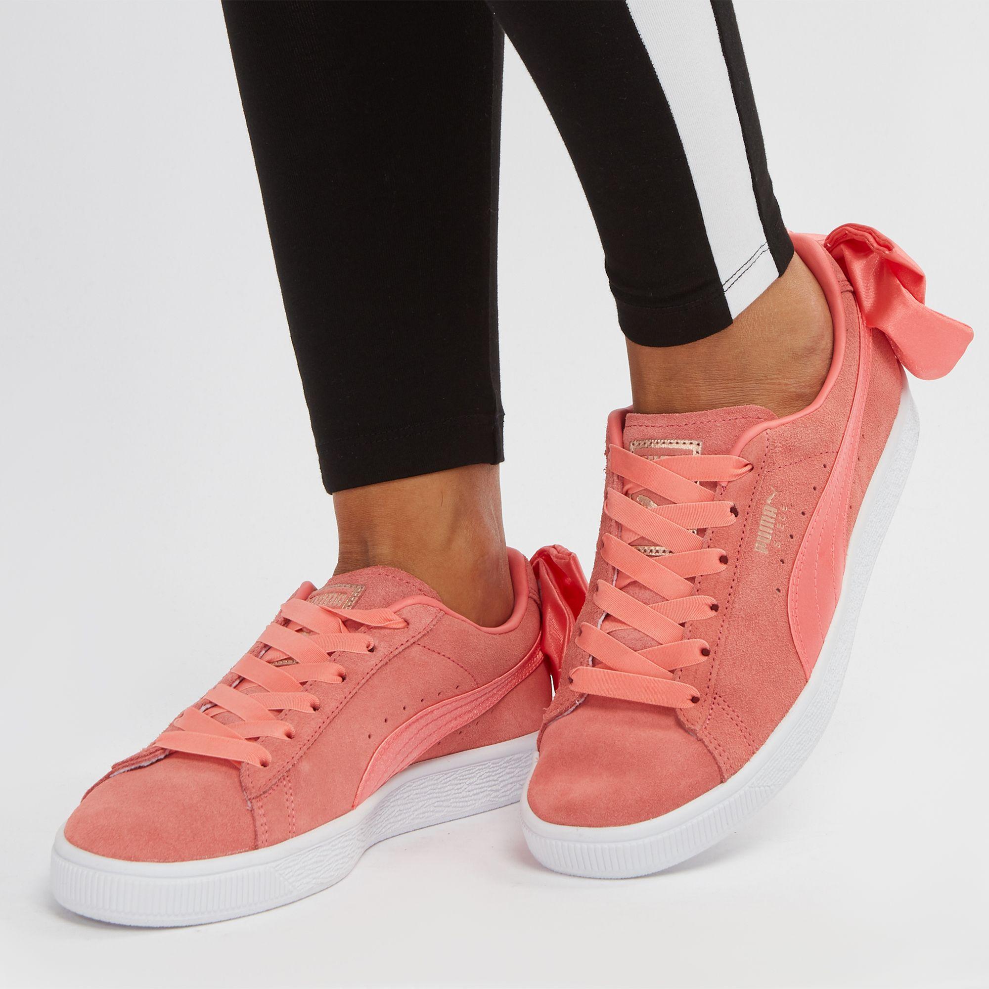 d8b4024fff7 PUMA Suede Bow Shoe - Pink