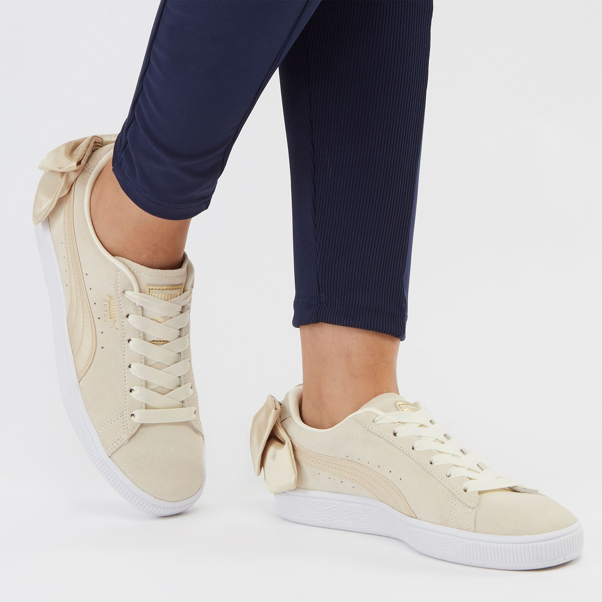 83bbaeeed8a Shop Pink PUMA Suede Bow Varsity Shoe