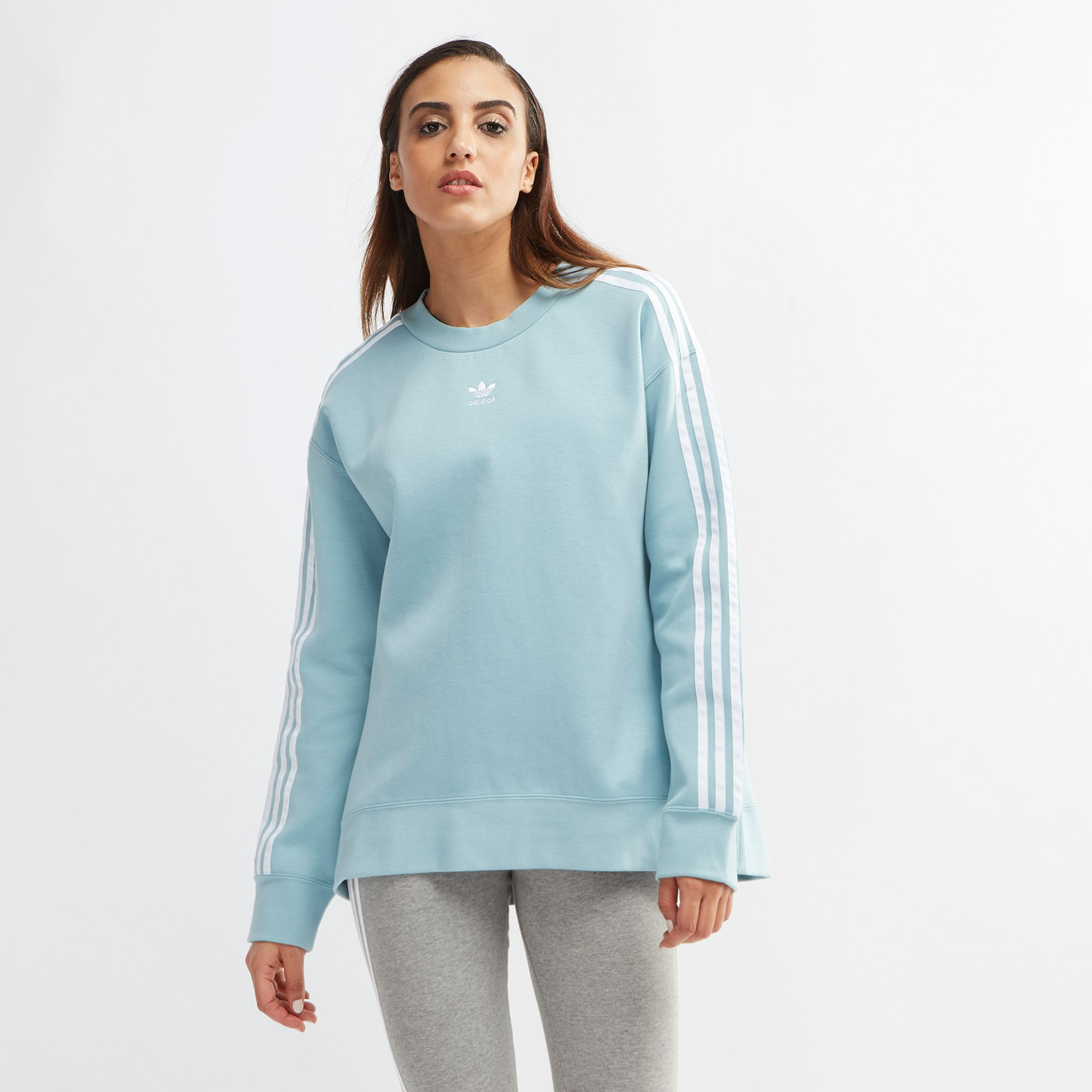 adidas Originals adicolor sweater in blue