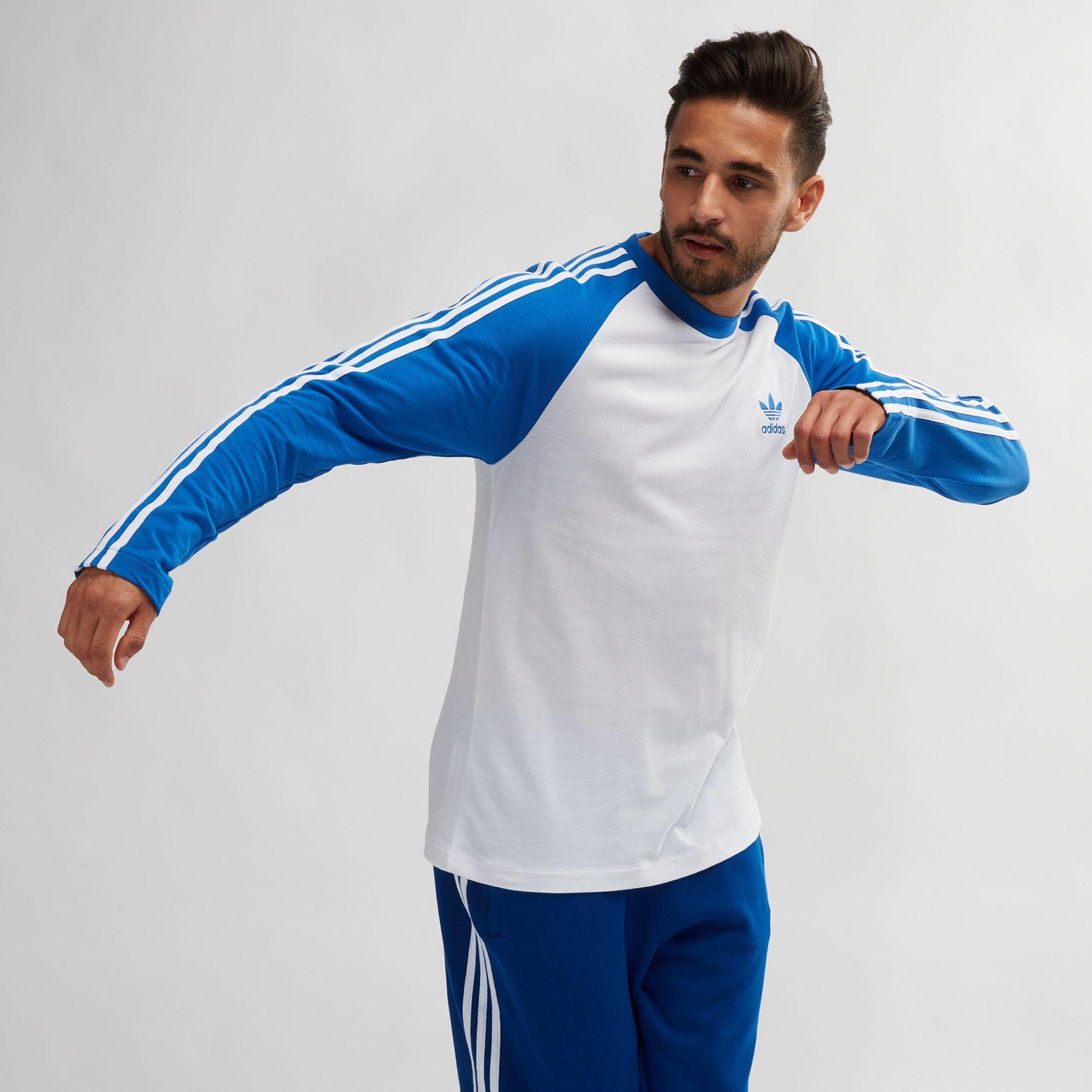 adidas Originals Adicolor 3 Stripes Long Sleeve T Shirt   T