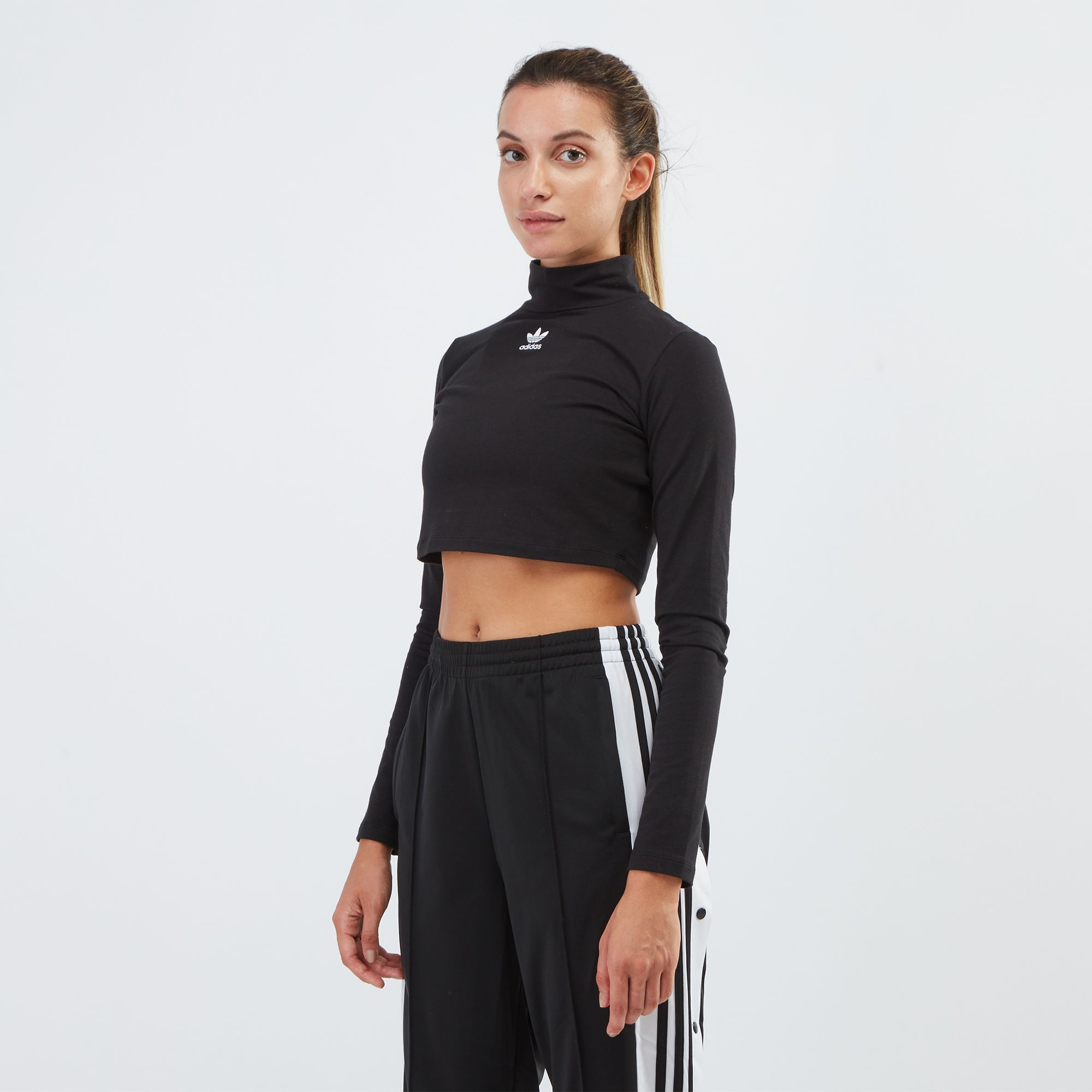 9c2fb603a54 adidas Originals Styling Complements Long Sleeve Crop Top | T-Shirts ...