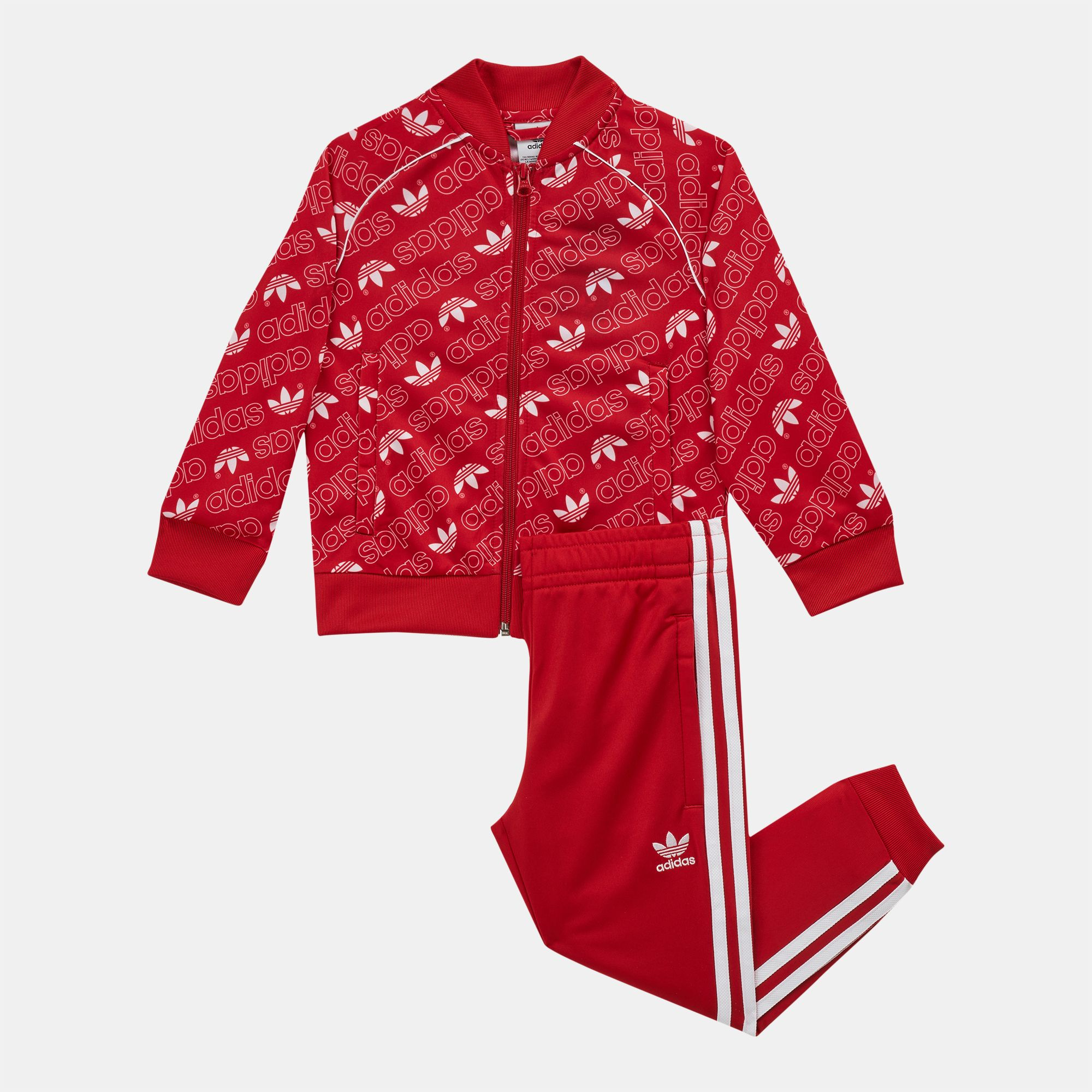 61a5080ec5e Shop Red adidas Originals Kids' Monogram Trefoil SST Tracksuit ...
