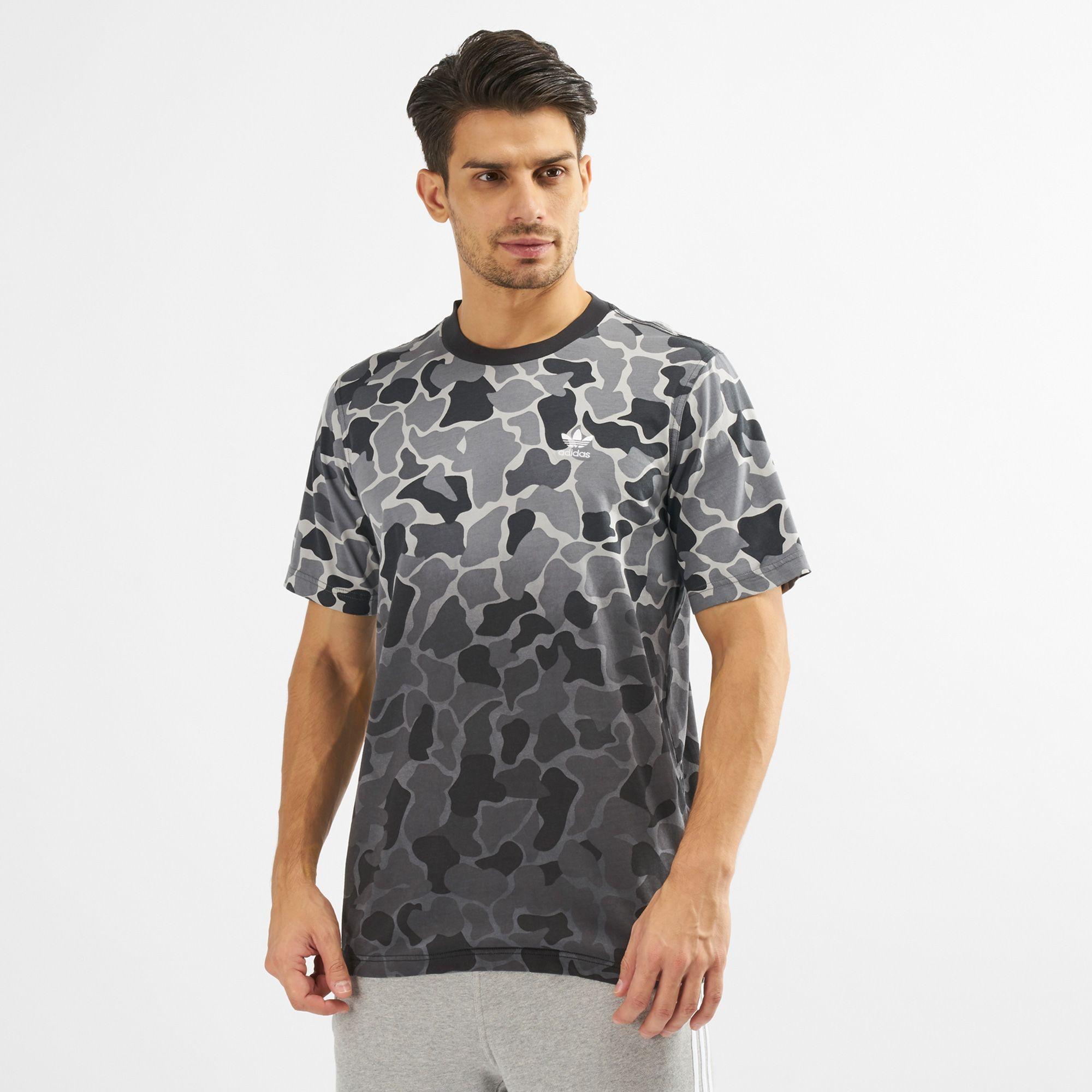adidas Originals Men's Camo Dipped T Shirt