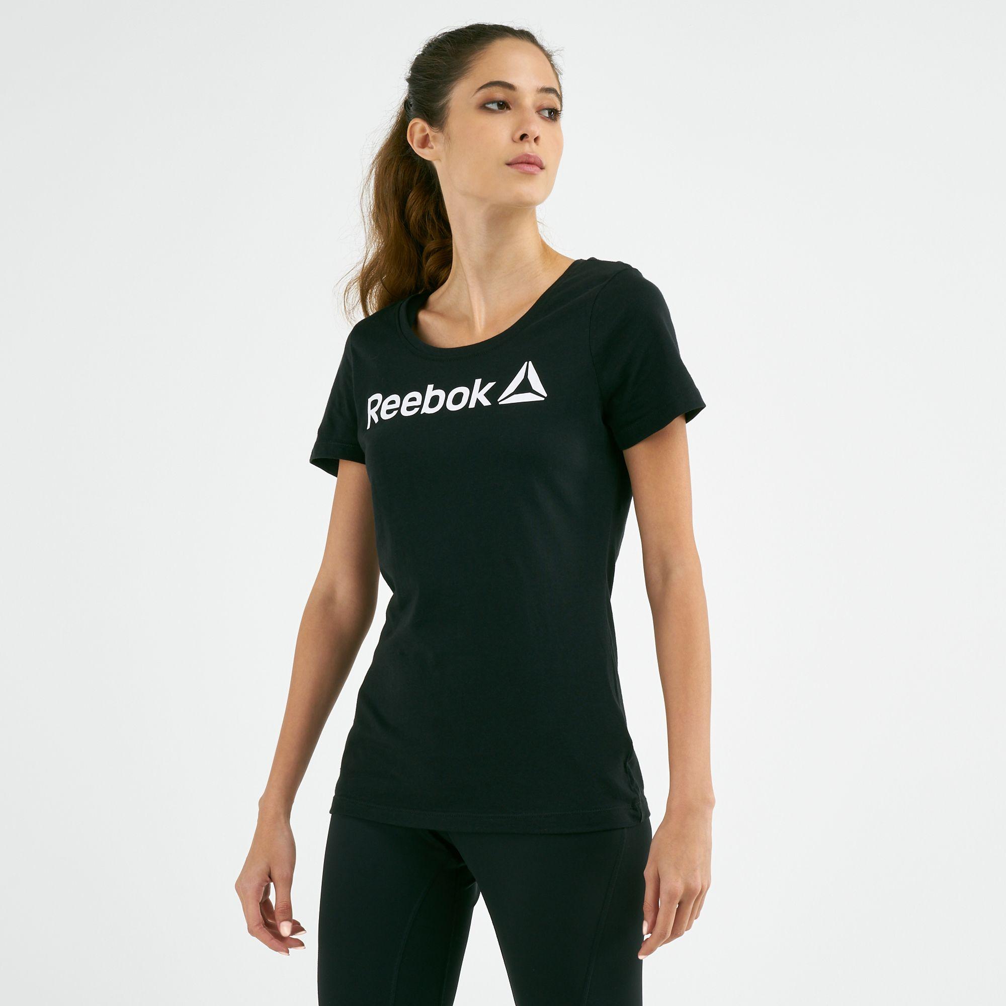 Reebok Women's Linear Scoop Neck T-shirt