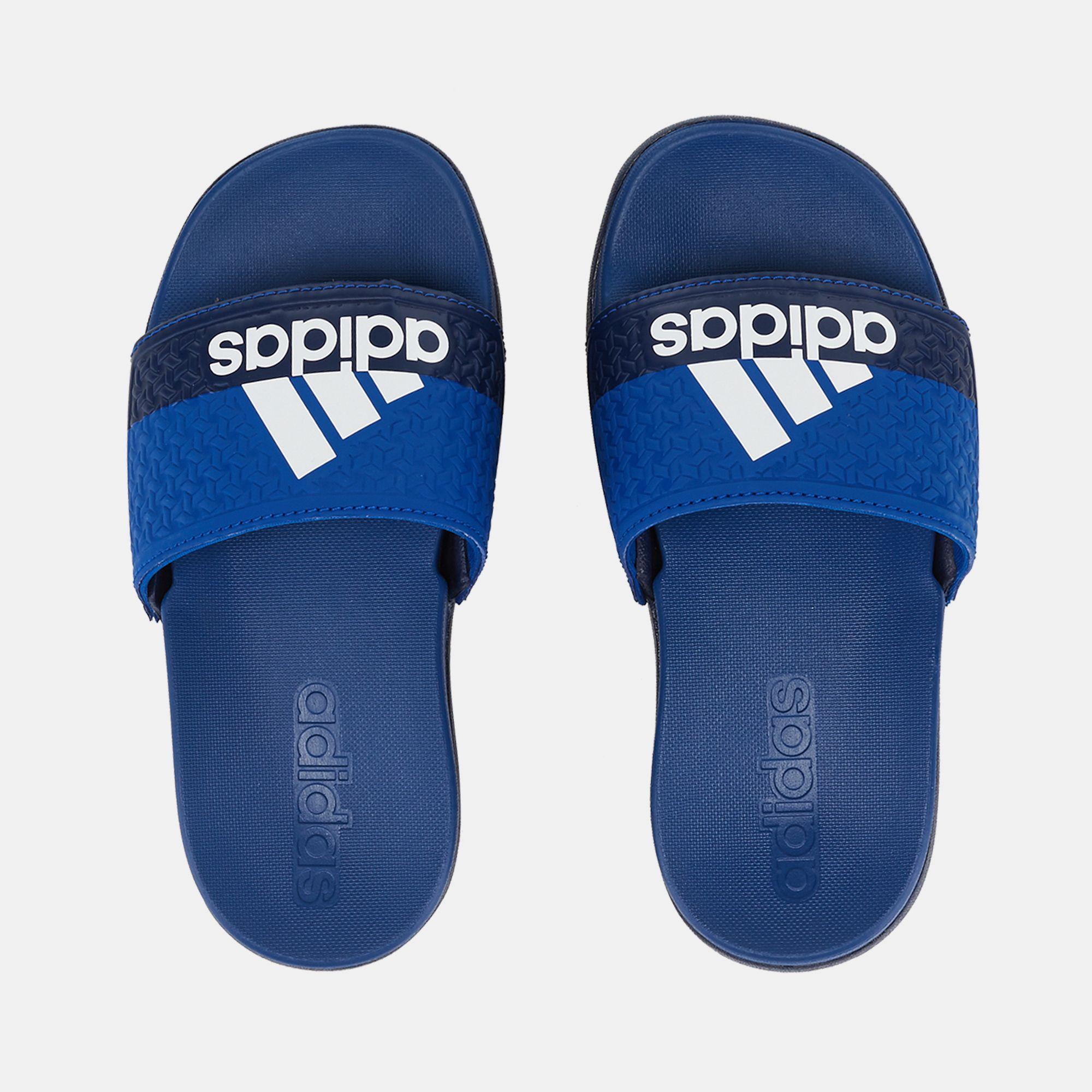 e45801563b1b Blue adidas Kids  Adilette Cloudfoam Plus Slides