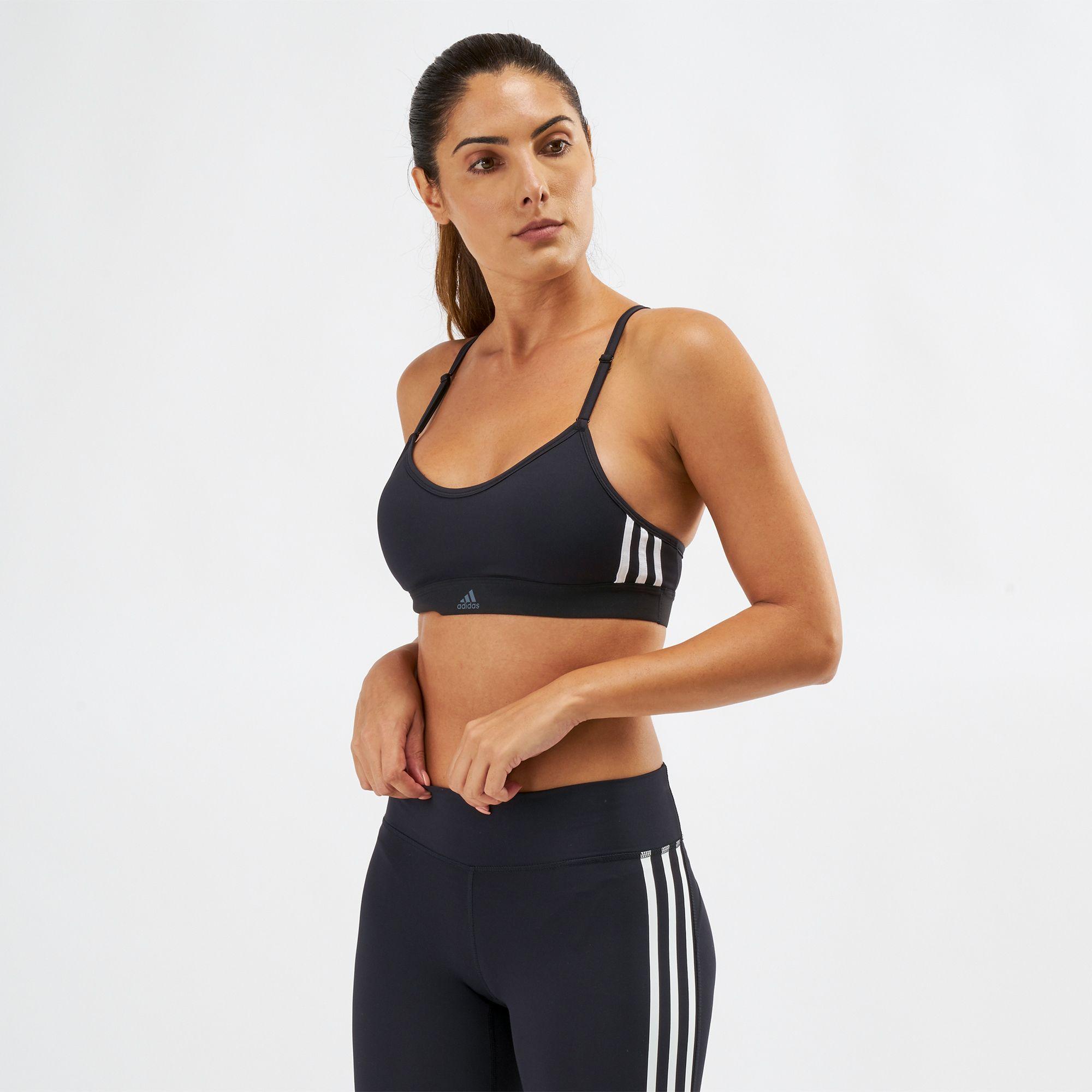 adidas Womens All Me 3S Sports Bra Mesh Workout
