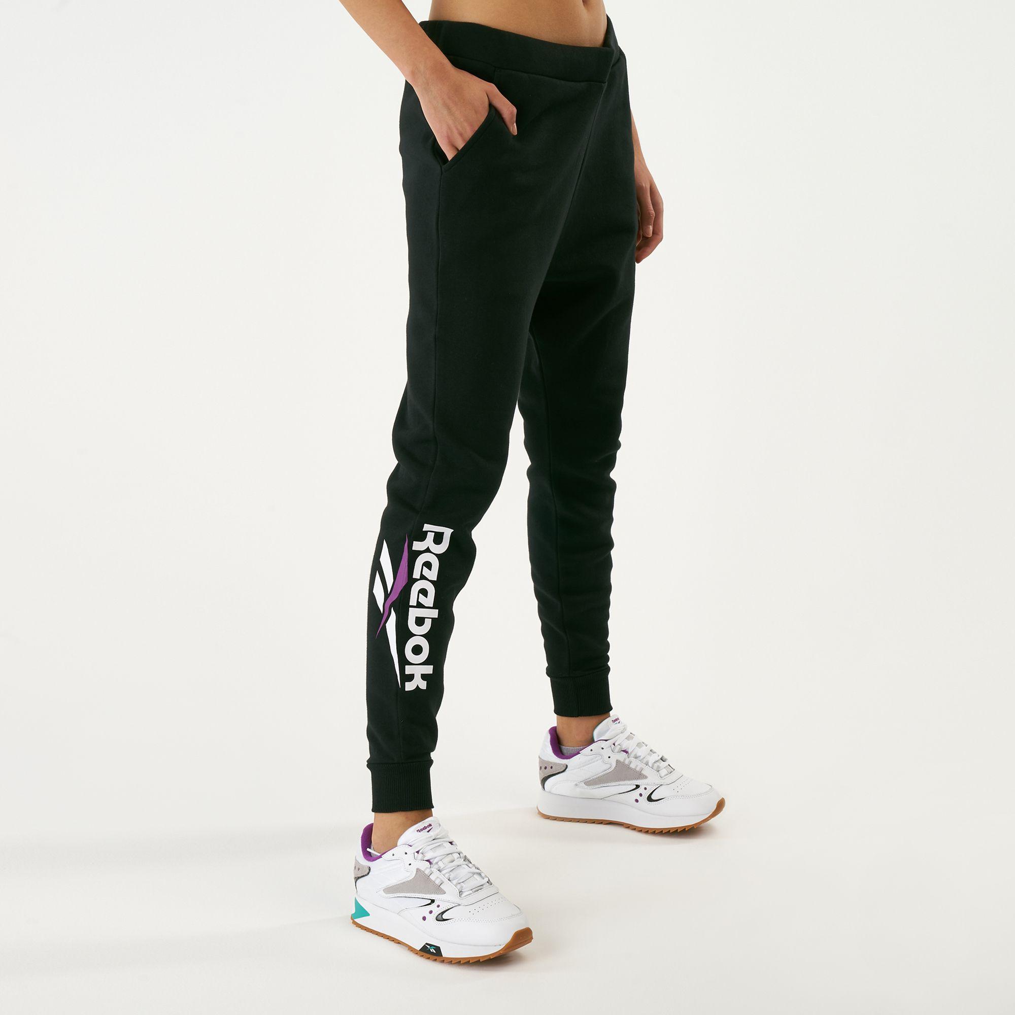 reebok womens fleece jogger pants where