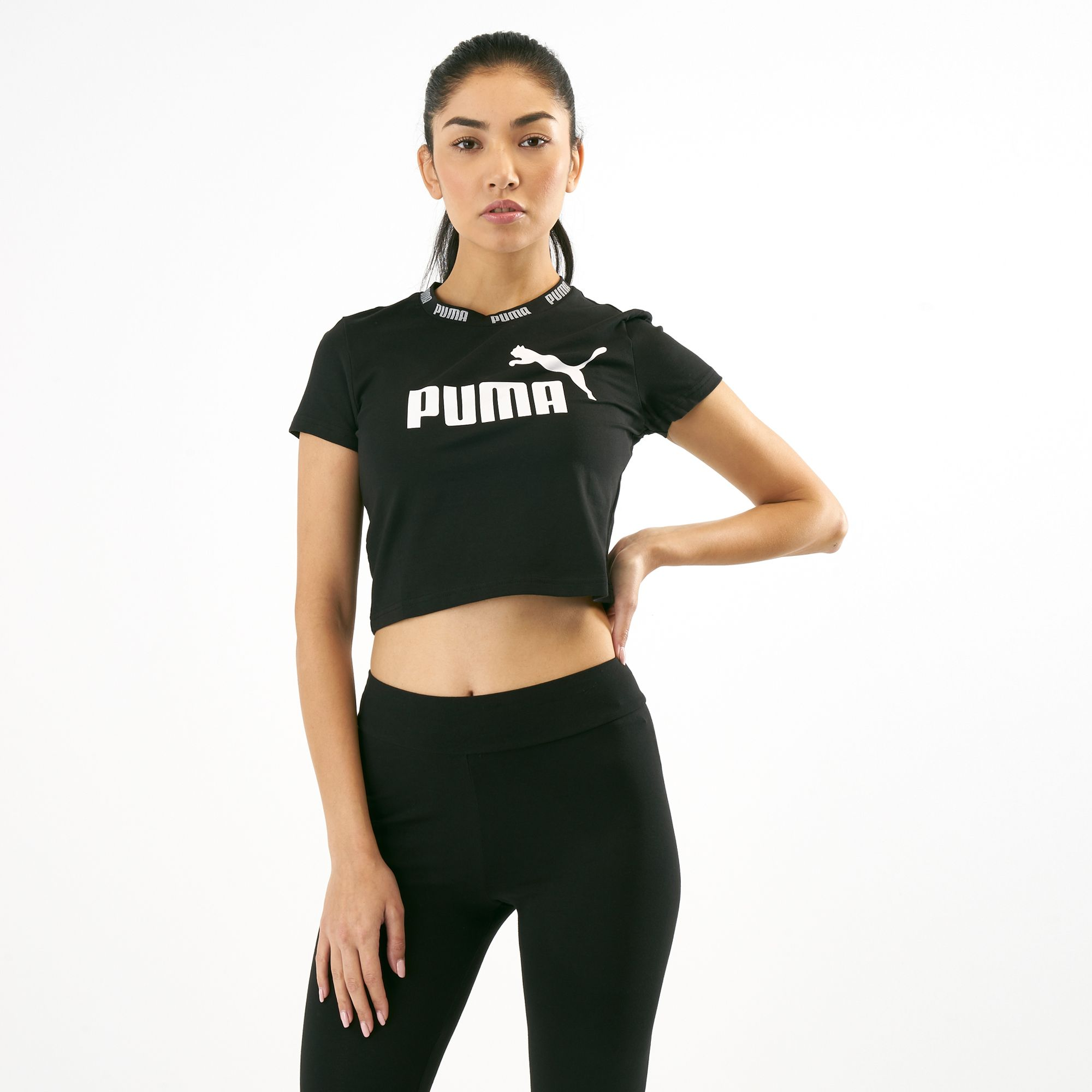 9de7ac449f0 PUMA Women's Amplified Cropped T-Shirt   Tank Tops   Tops   Clothing    Women's Sale   KSA Sale   SSS