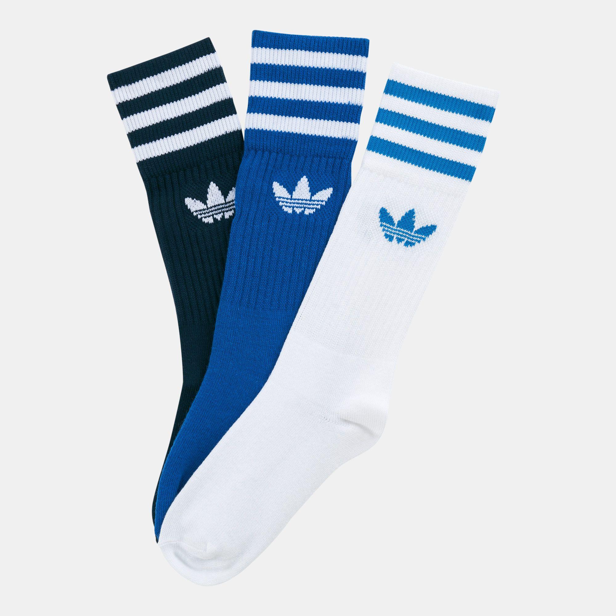 adidas Originals Solid Crew Socks 3 Pairs
