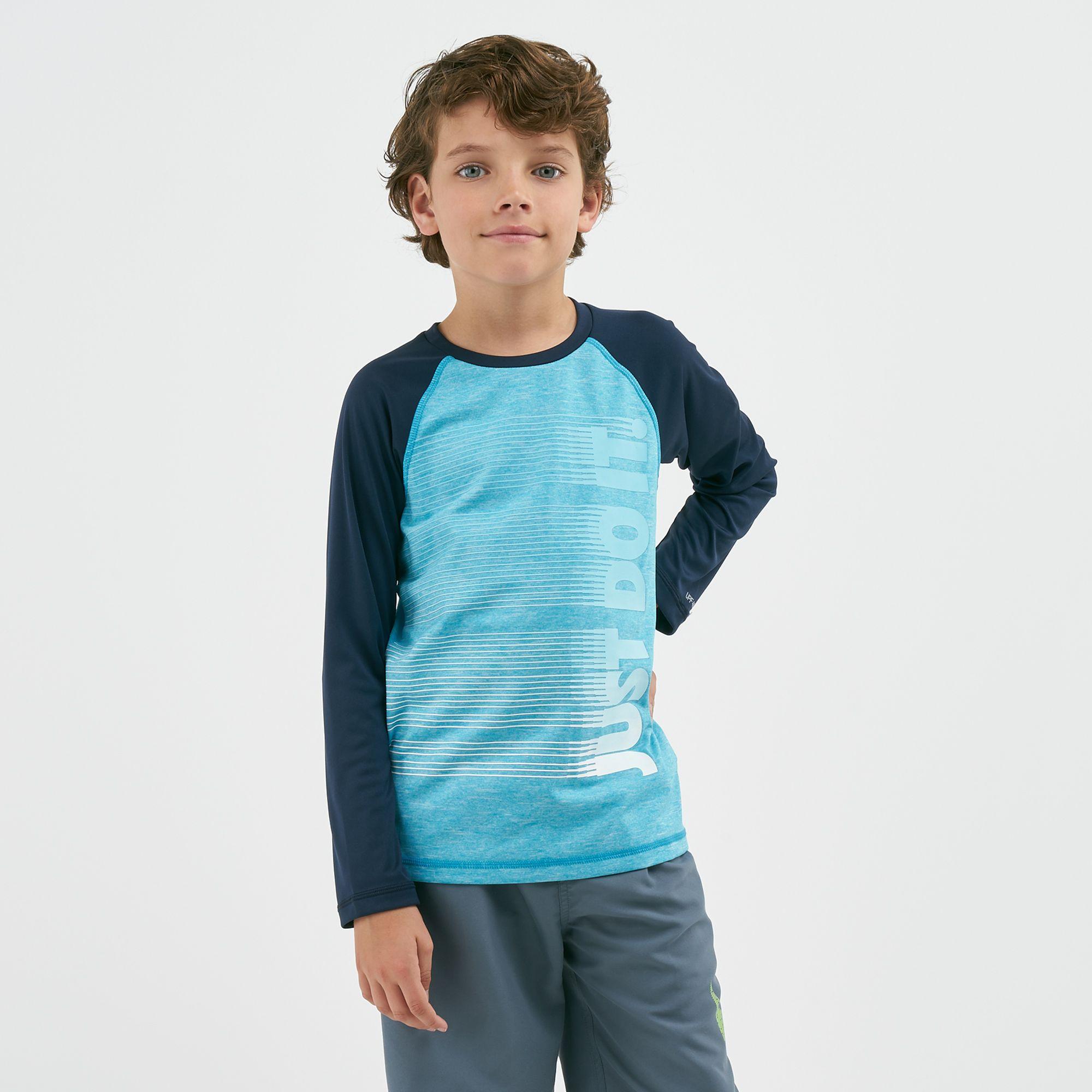 b5588199 Nike Kids' Heather JDI Long Sleeve T-Shirt (Older Kids)   Swimwear ...
