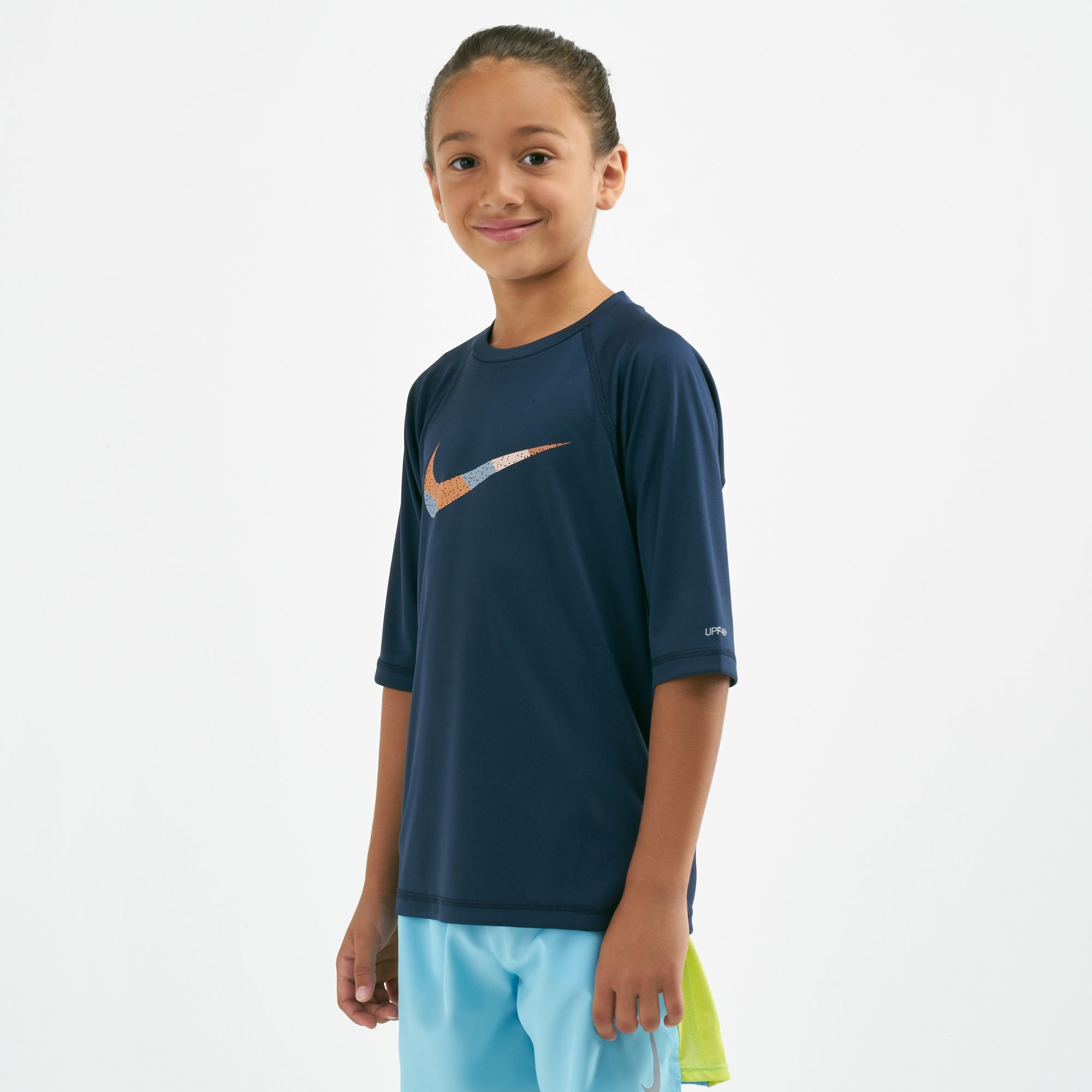 74a80aea Nike Swim Kids' Mash Up Hydroguard Rash T-Shirt (Younger Kids) | Swimwear |  Clothing | Kids | SSS