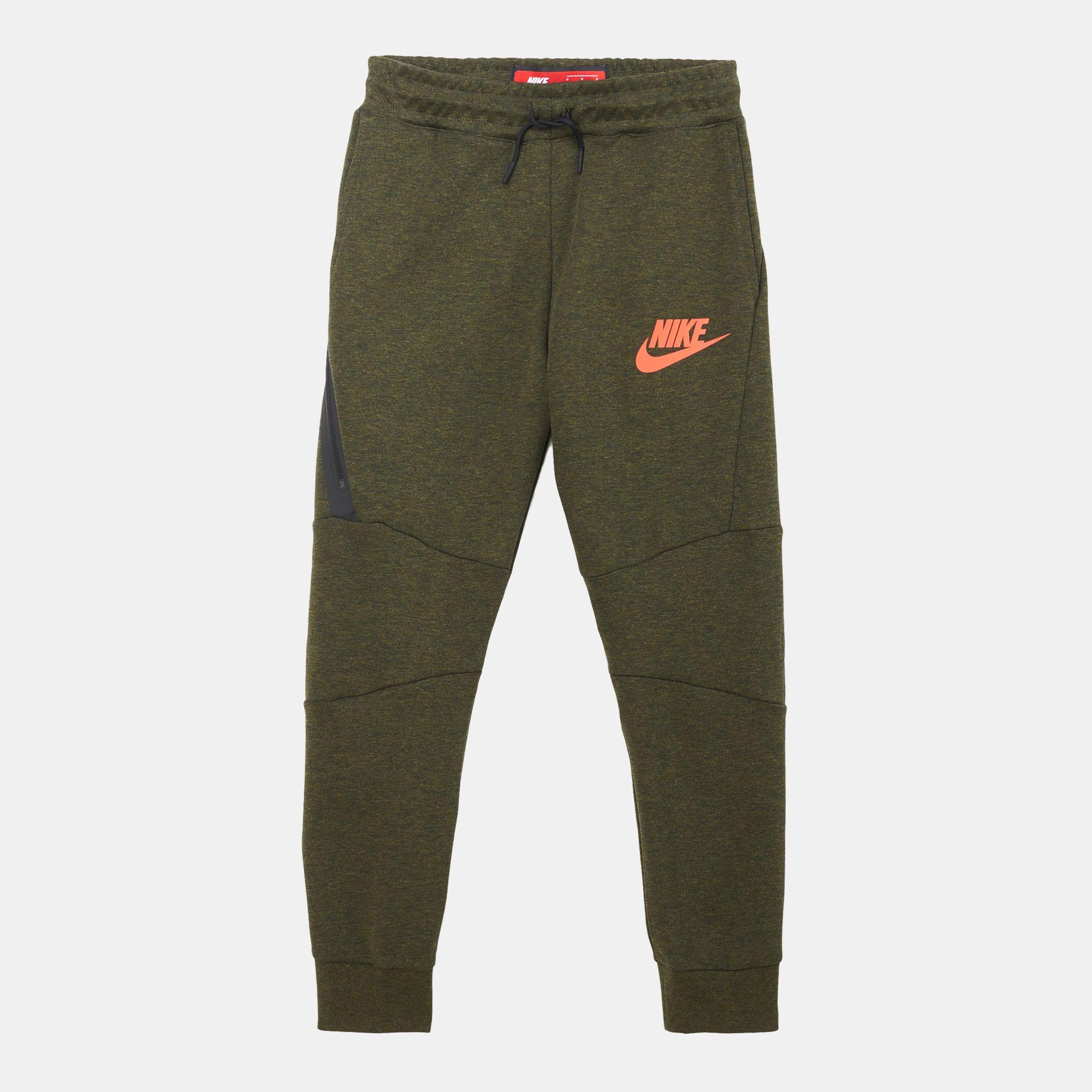 8e112875c73a Shop Green Nike Kids  Sportswear Tech Fleece Pants for Kids by Nike ...