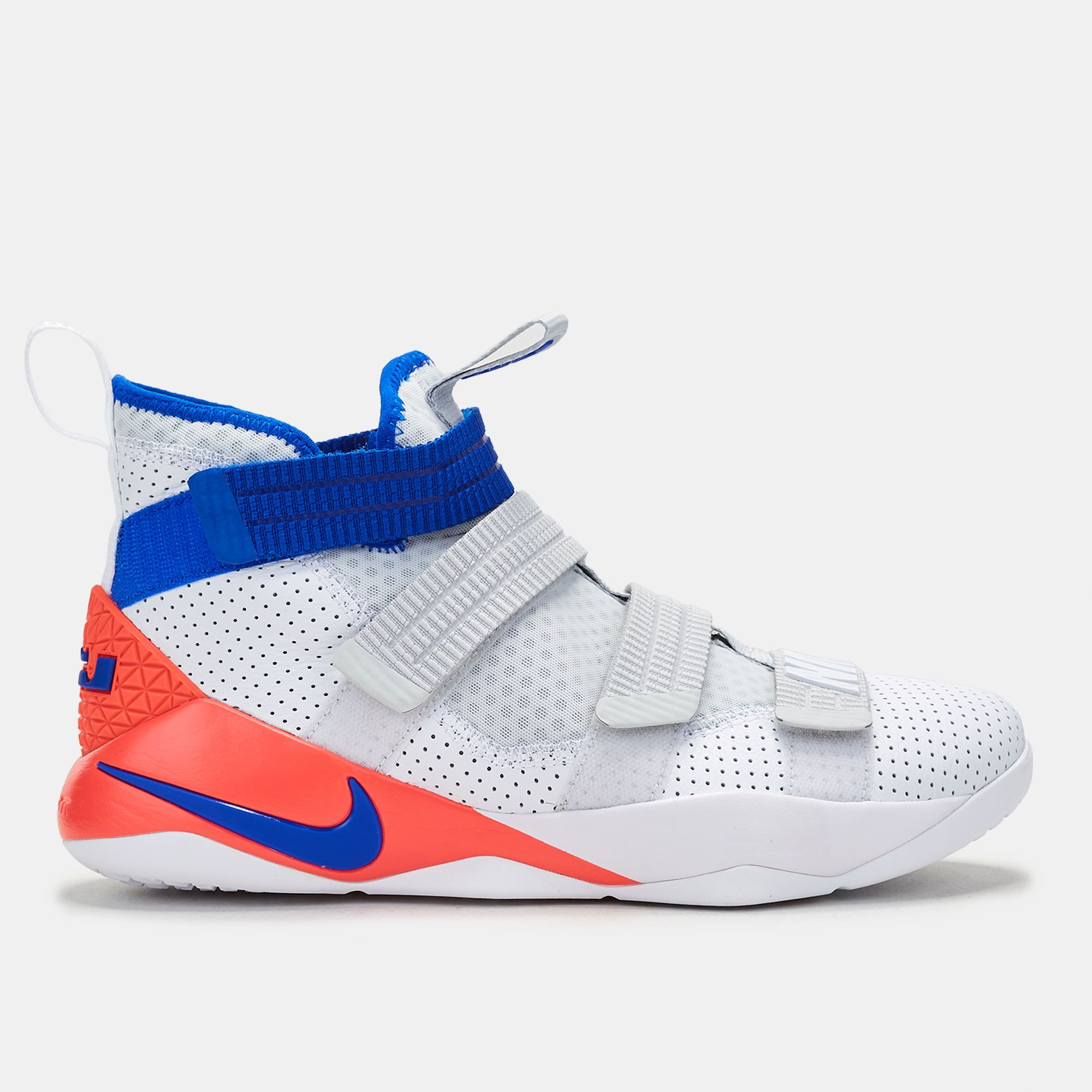 0b6846a71bc5 Shop White Nike LeBron Soldier 11 SFG Basketball Shoe for Mens by ...