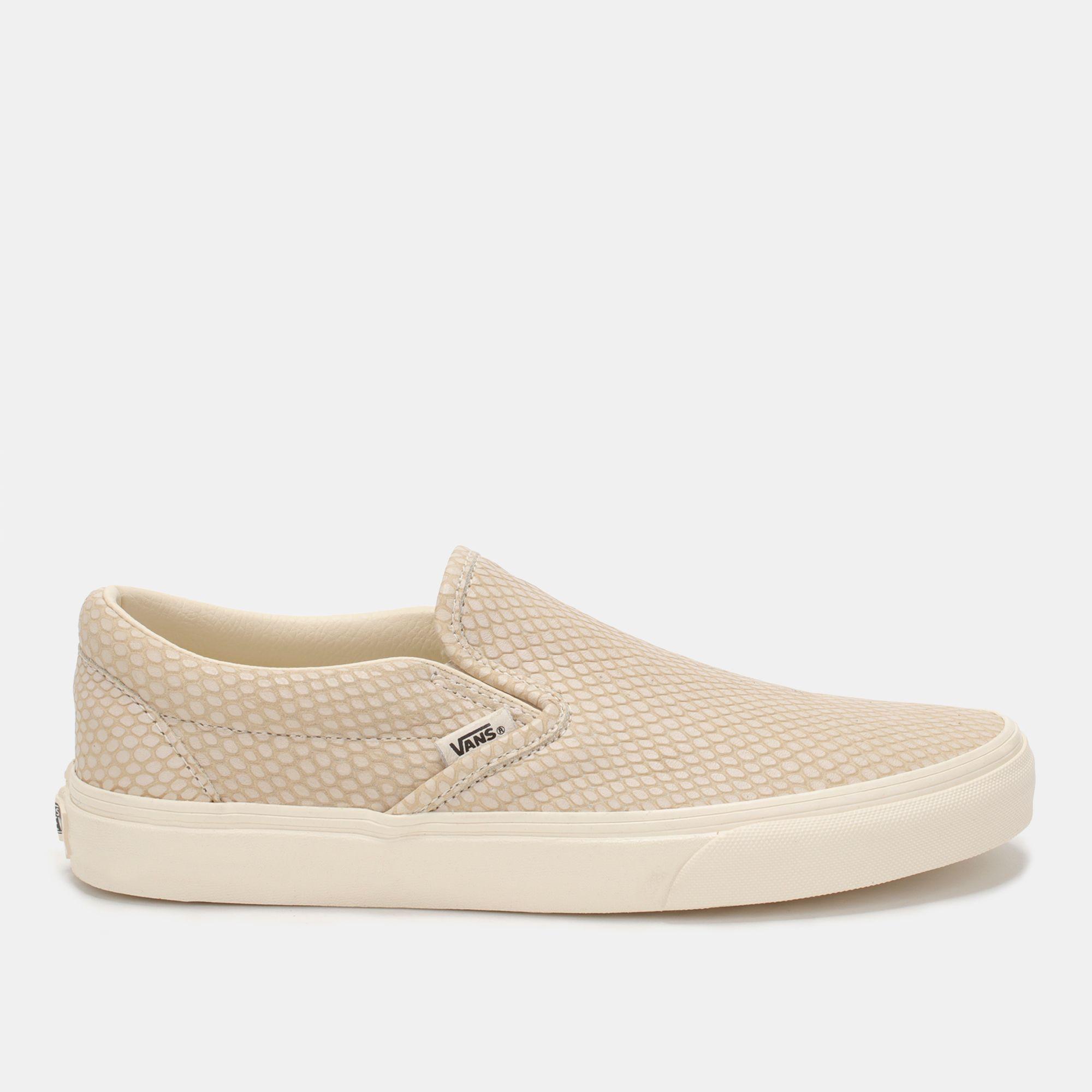 642f33484e3ece Shop Beige Vans Snake Leather Classic Slip-On Shoe for Mens by Vans ...
