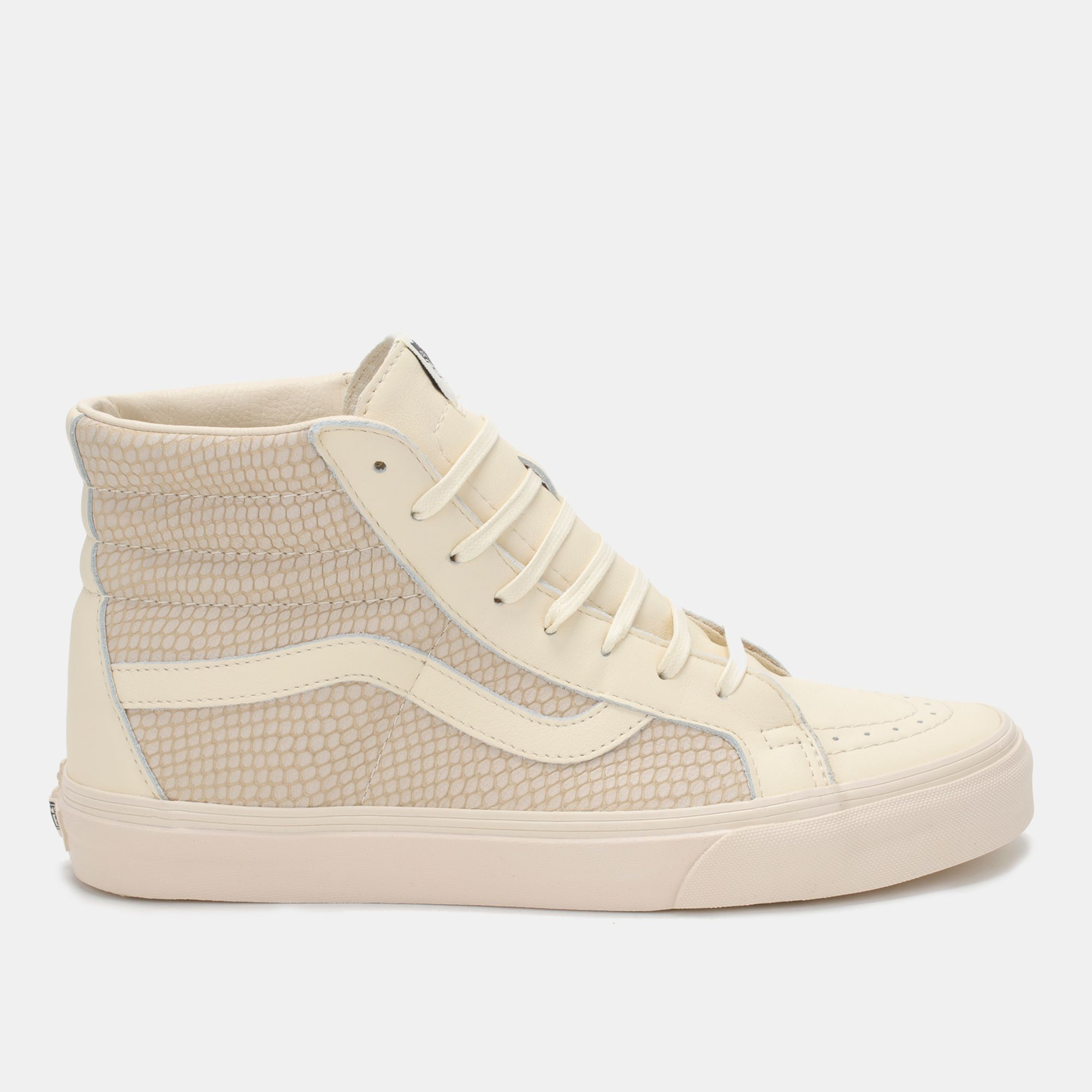 c5fd08f44d Shop Beige Vans Snake Leather Sk8-Hi Reissue Shoe for Mens by Vans