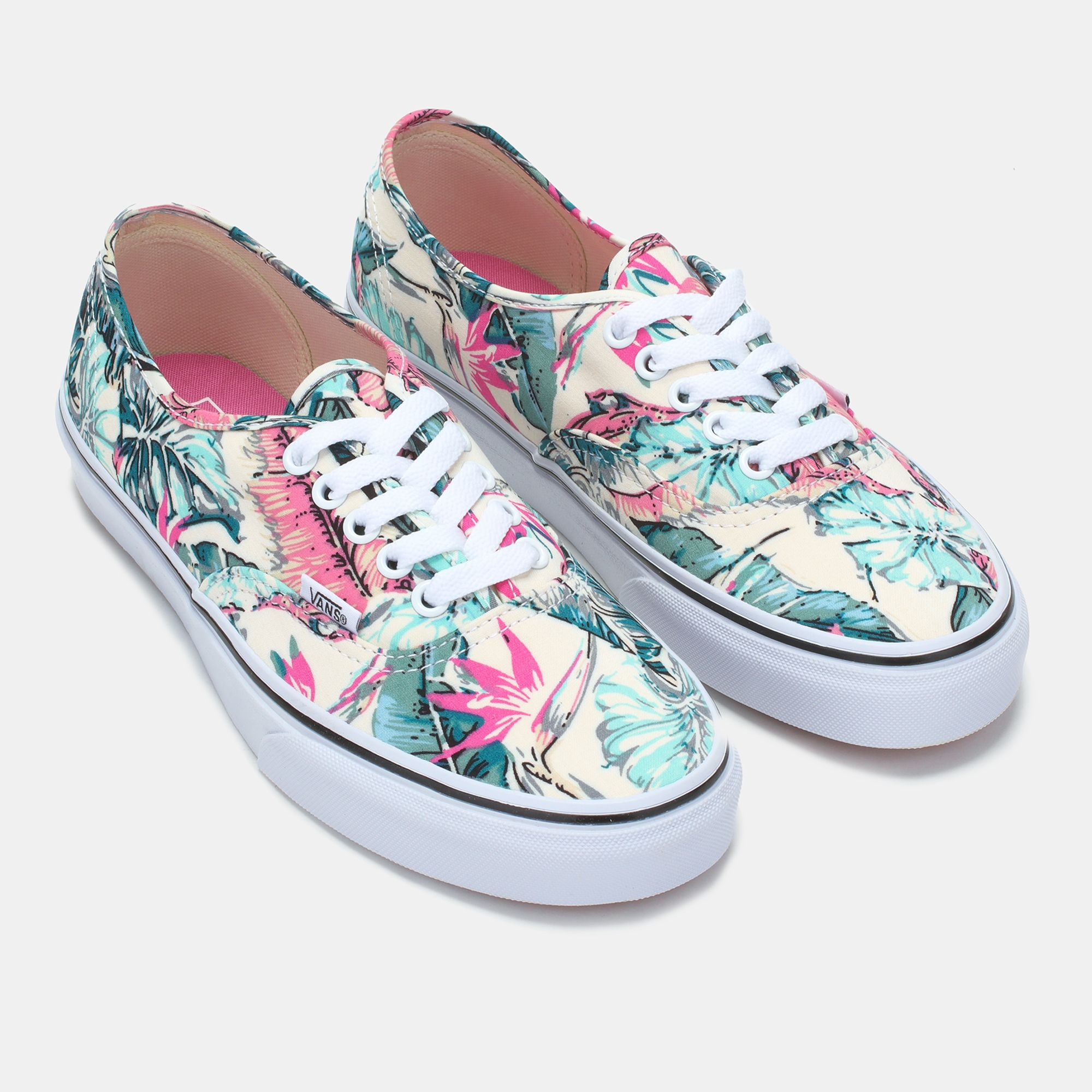 56c7b3f2d6 Shop Multi Vans Hawaiian Floral Authentic Skate Shoe for Womens by ...