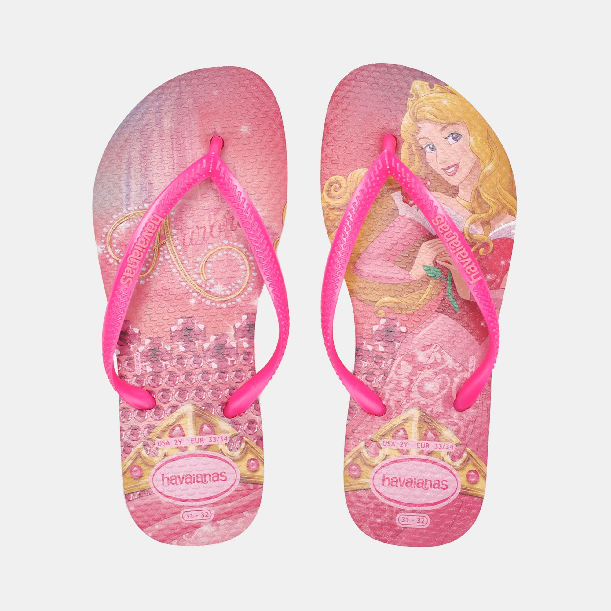 0b56ef6ba Shop Pink Havaianas Kids  Slim Princess Flip Flops for Kids by Havaianas