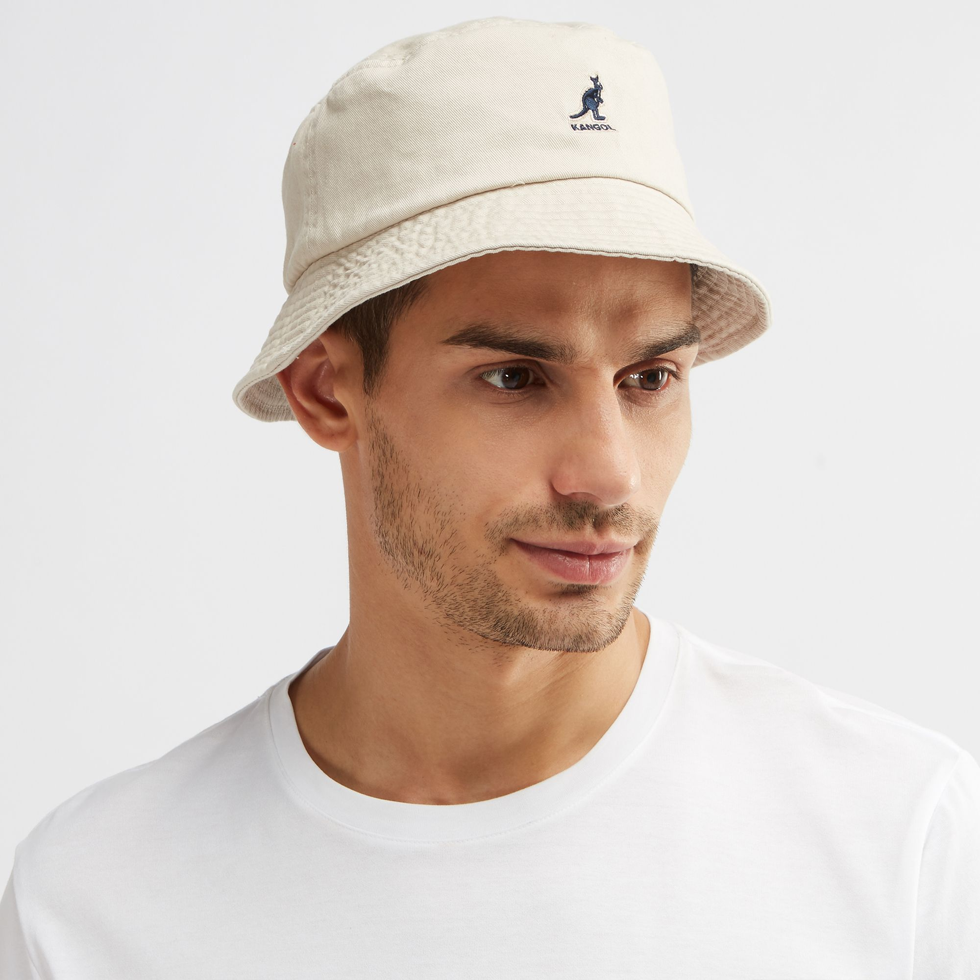Shop Beige Kangol Washed Bucket Cap for Mens by Kangol  56a59629f2b