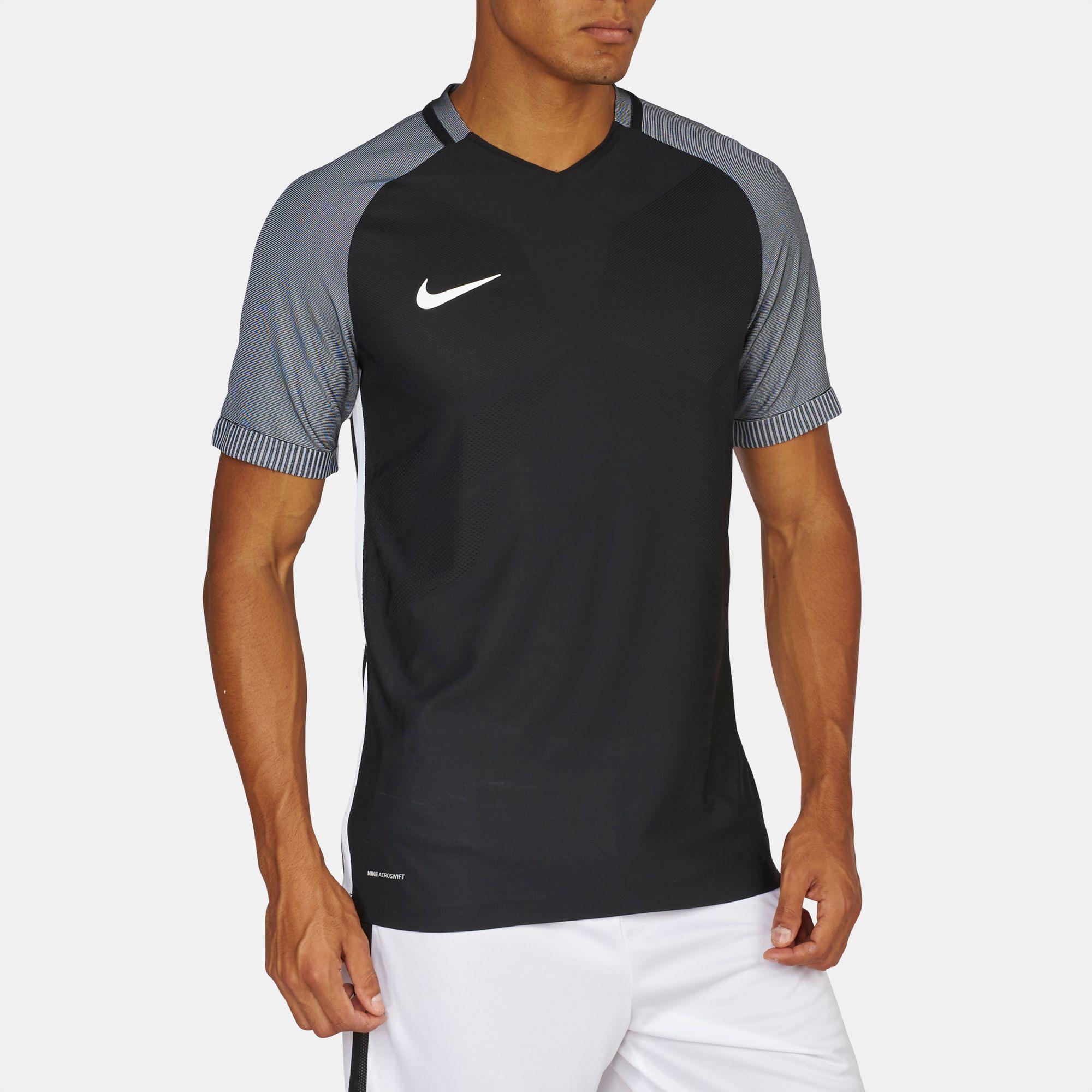 bf0fc884 Shop Black Nike Aeroswift Strike Short Sleeve T-Shirt for Mens by ...