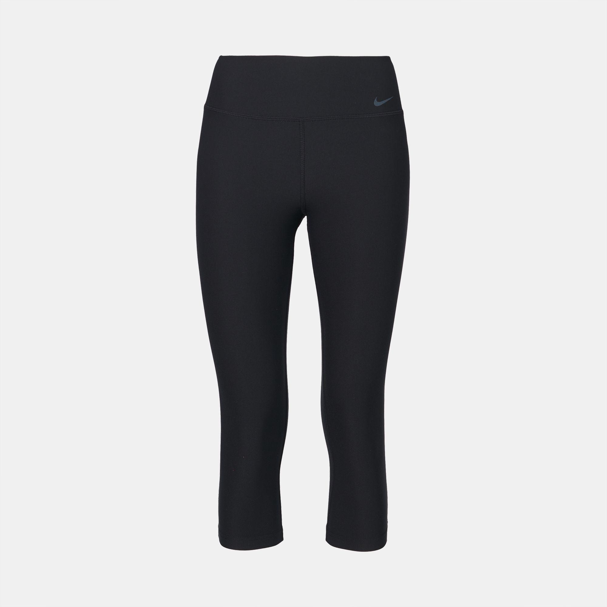 e5f83bde07362 Shop Black Nike Legend 2.0 Poly Training Capri Leggings for Womens ...
