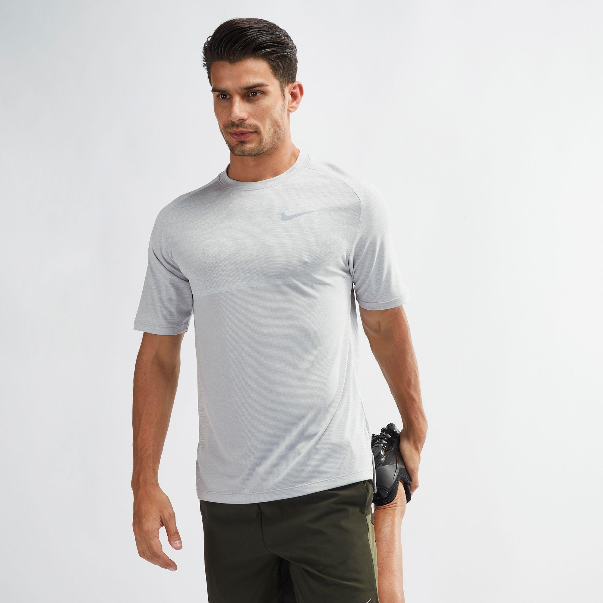 9d9b70e8 Shop Grey Nike Dri FIT Medalist Running T Shirt for Mens by Nike 8   SSS