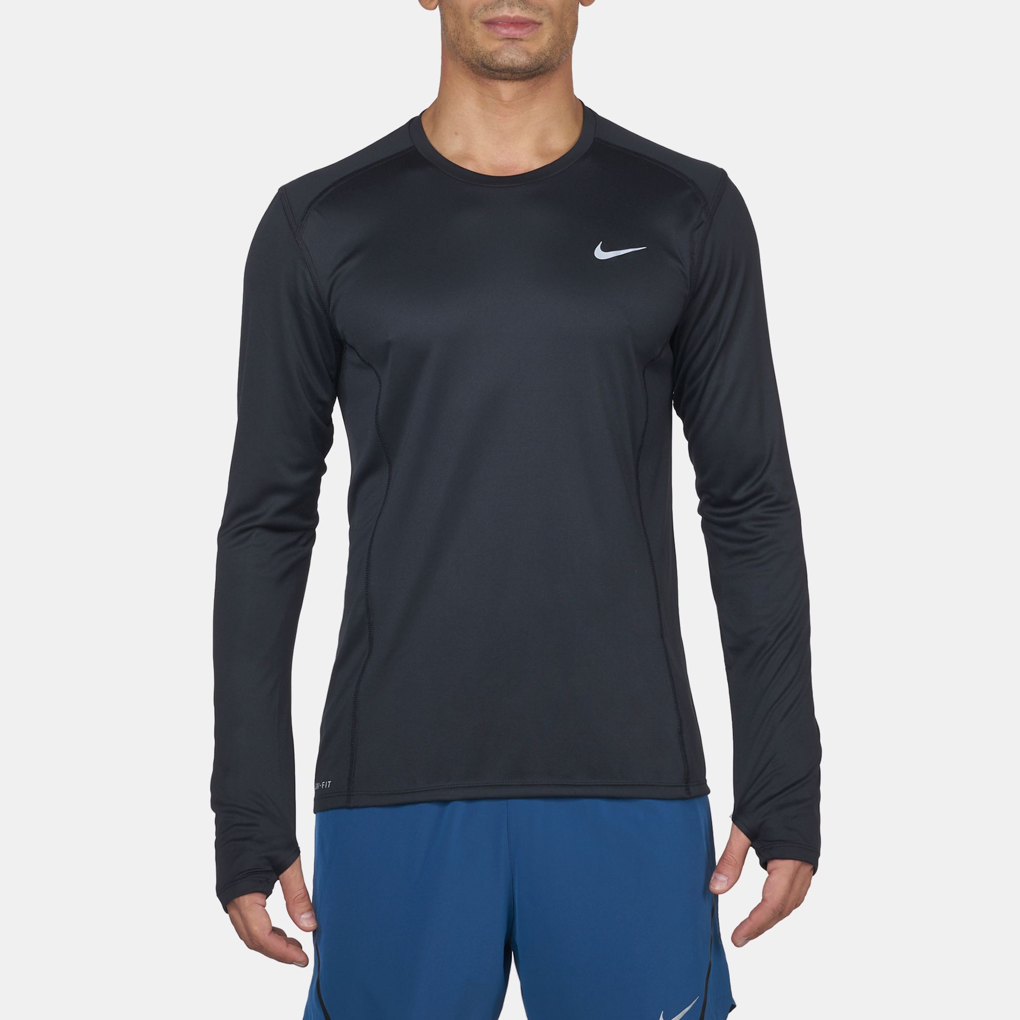 8b2ef5d2a41 Nike Miler Long Sleeve T Shirt Mens - Cotswold Hire
