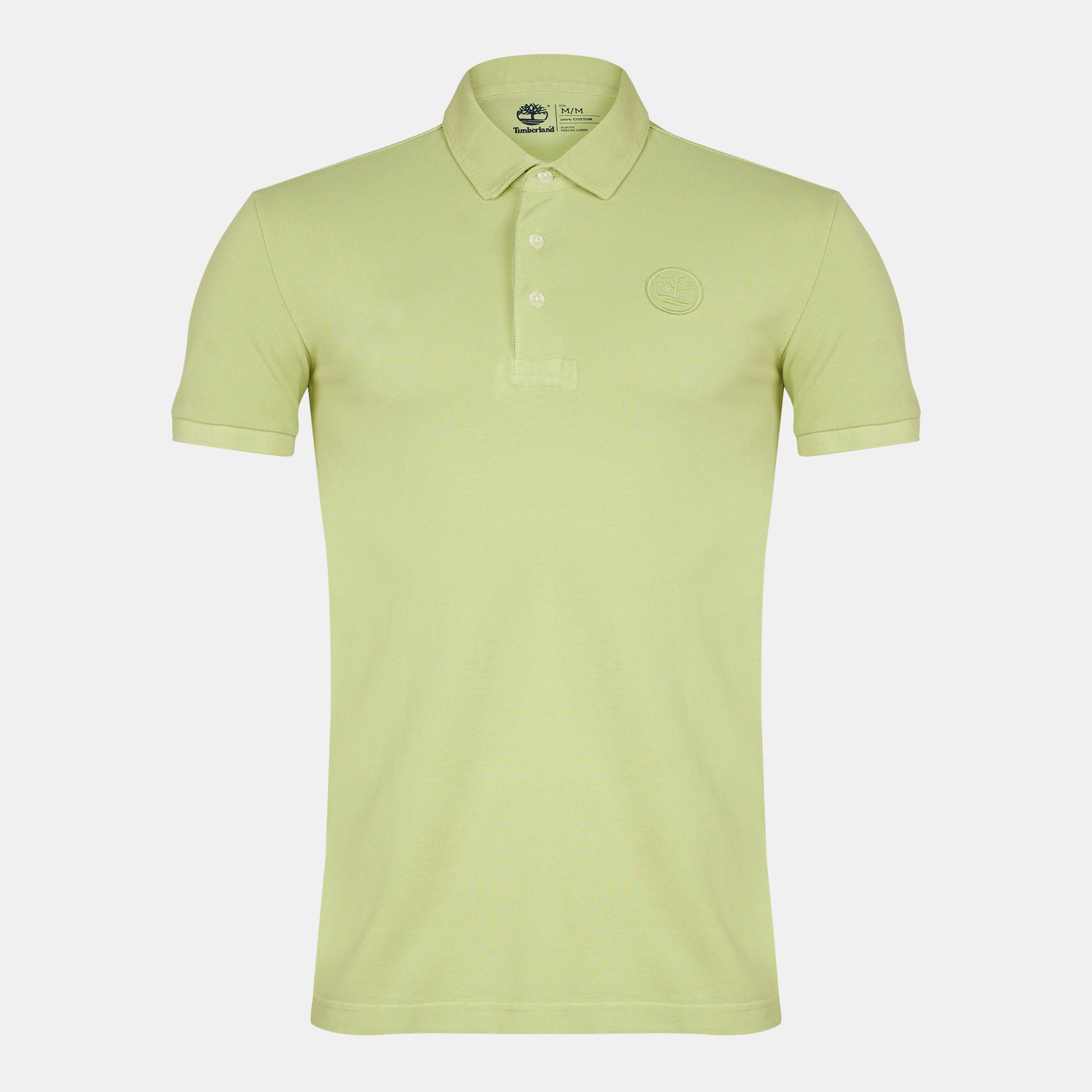 eaa8d44c18ce Shop Green Timberland Milford Washed Pique Polo T-Shirt for Mens by  Timberland | SSS