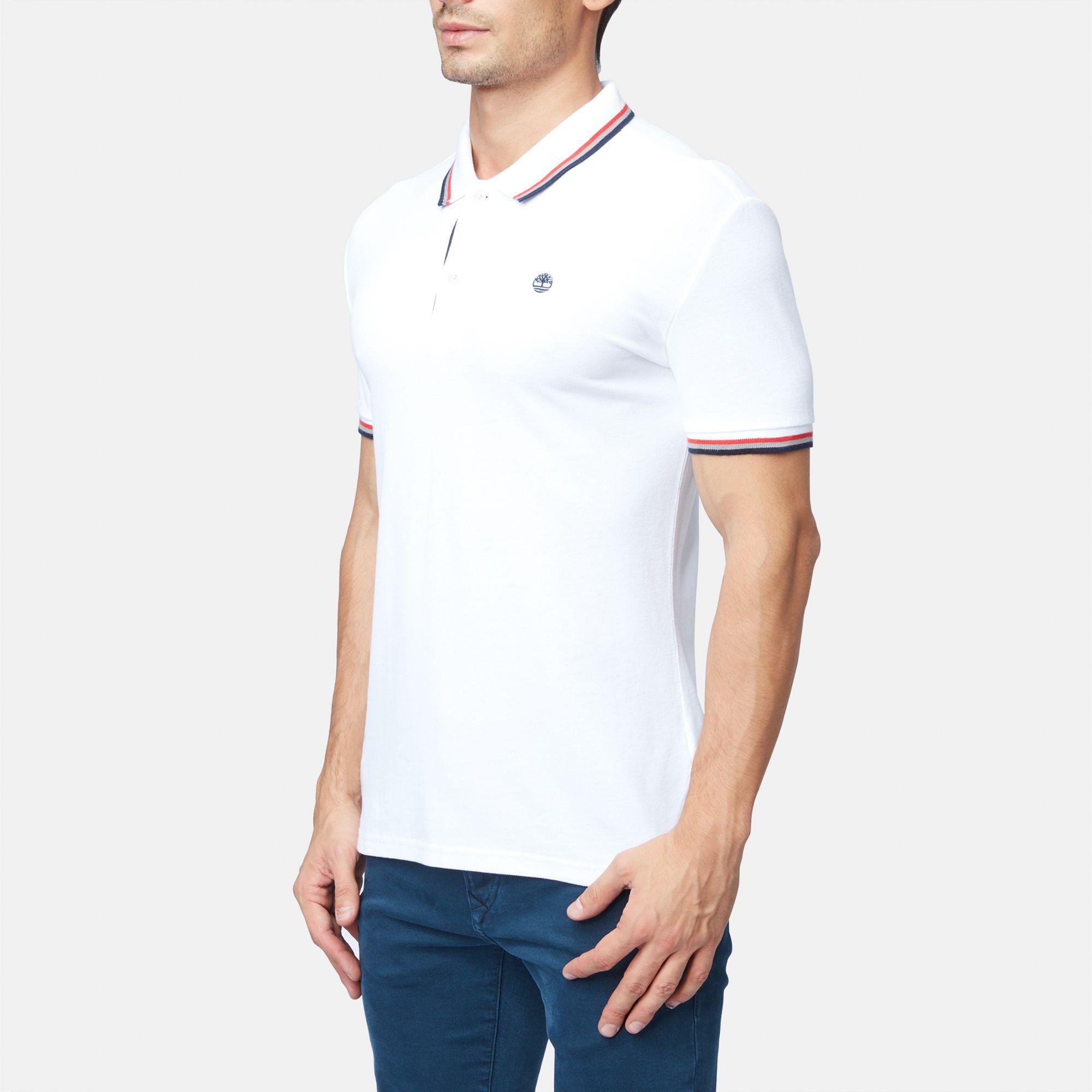 Timberland Eastham Pique Sail Polo T Shirt Polo Shirts Tops