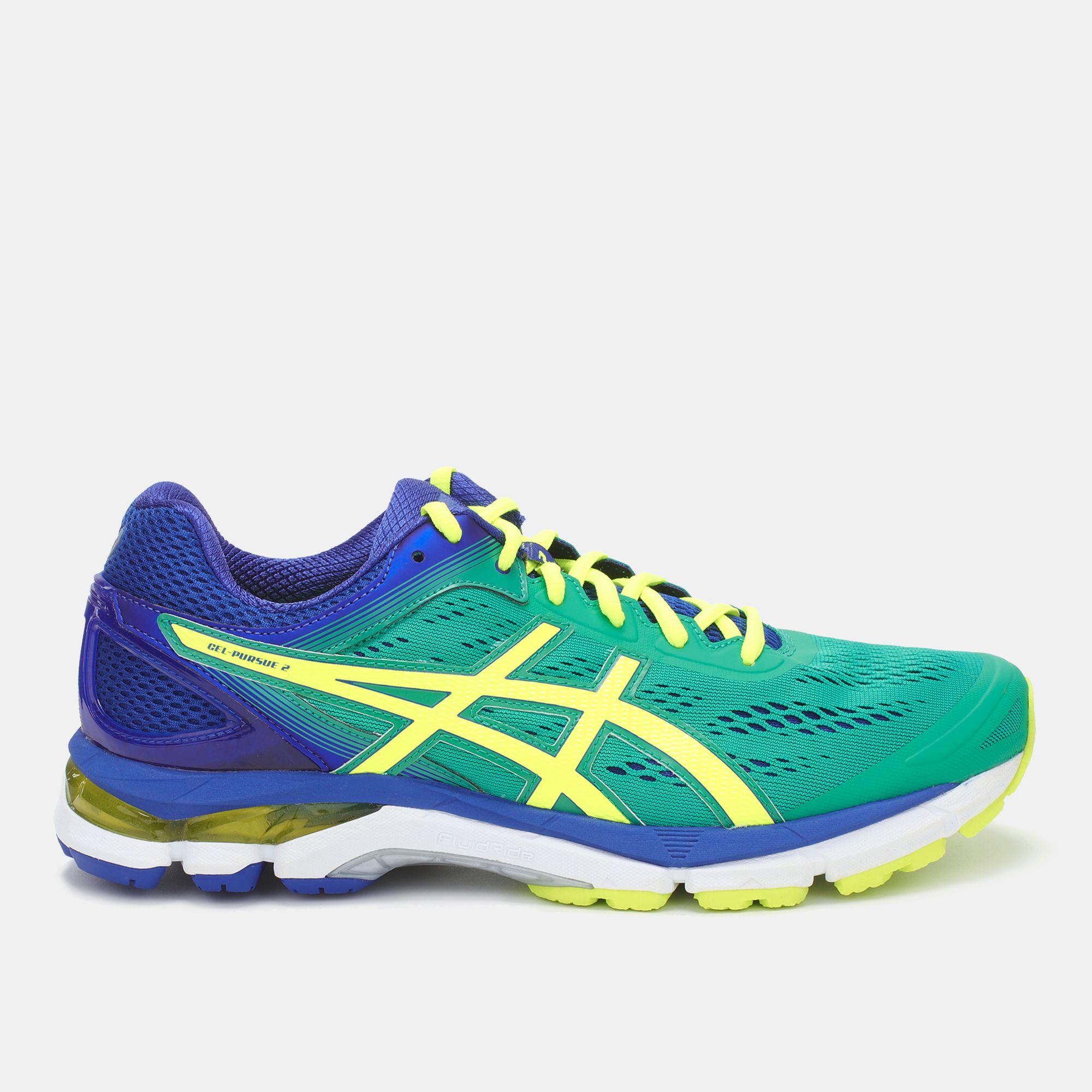 Shop Green Asics Gel Pursue 2 Running Shoe for Mens by Asics