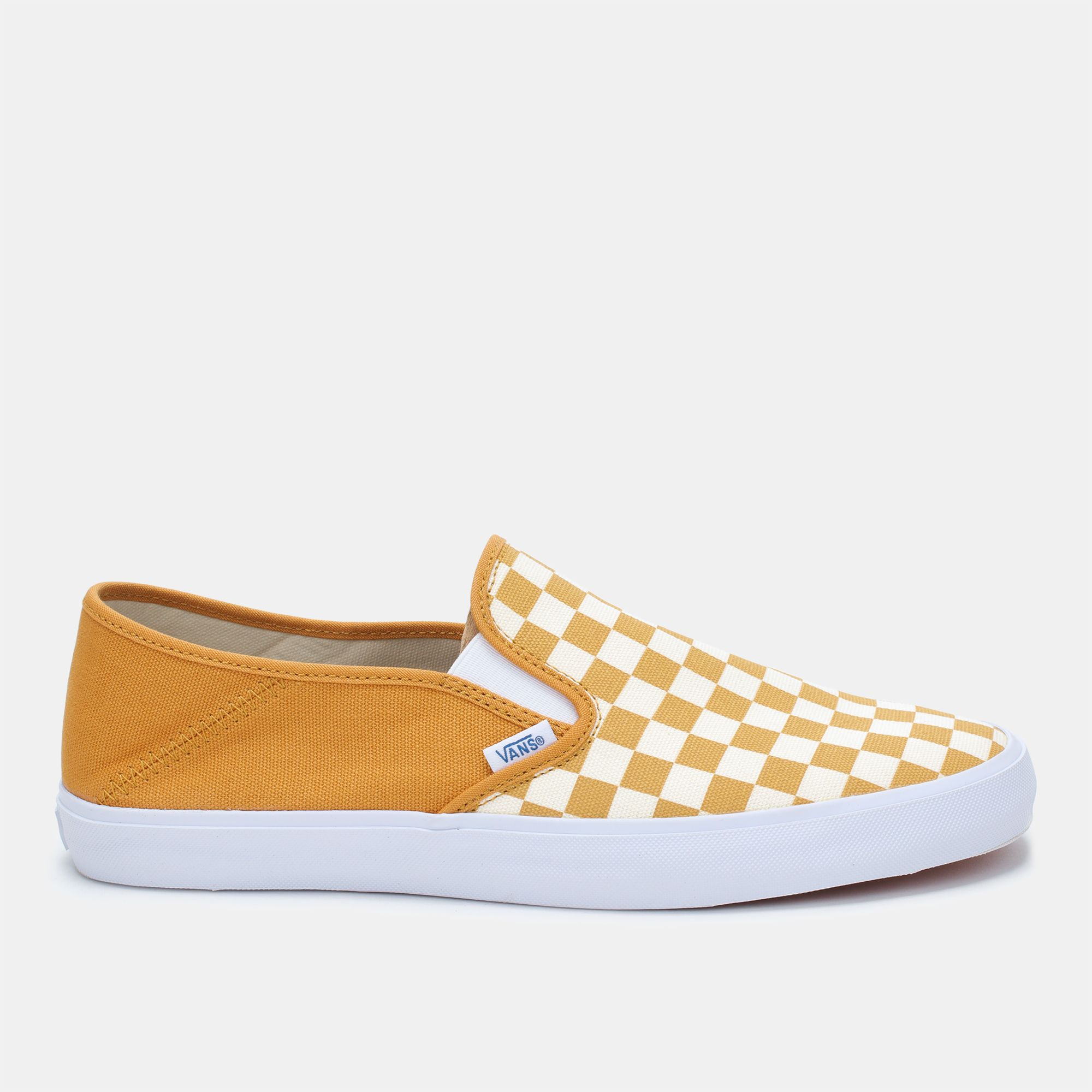 7d7493f296b Shop Yellow Vans Checkerboard Slip-On SF Shoe for Mens by Vans