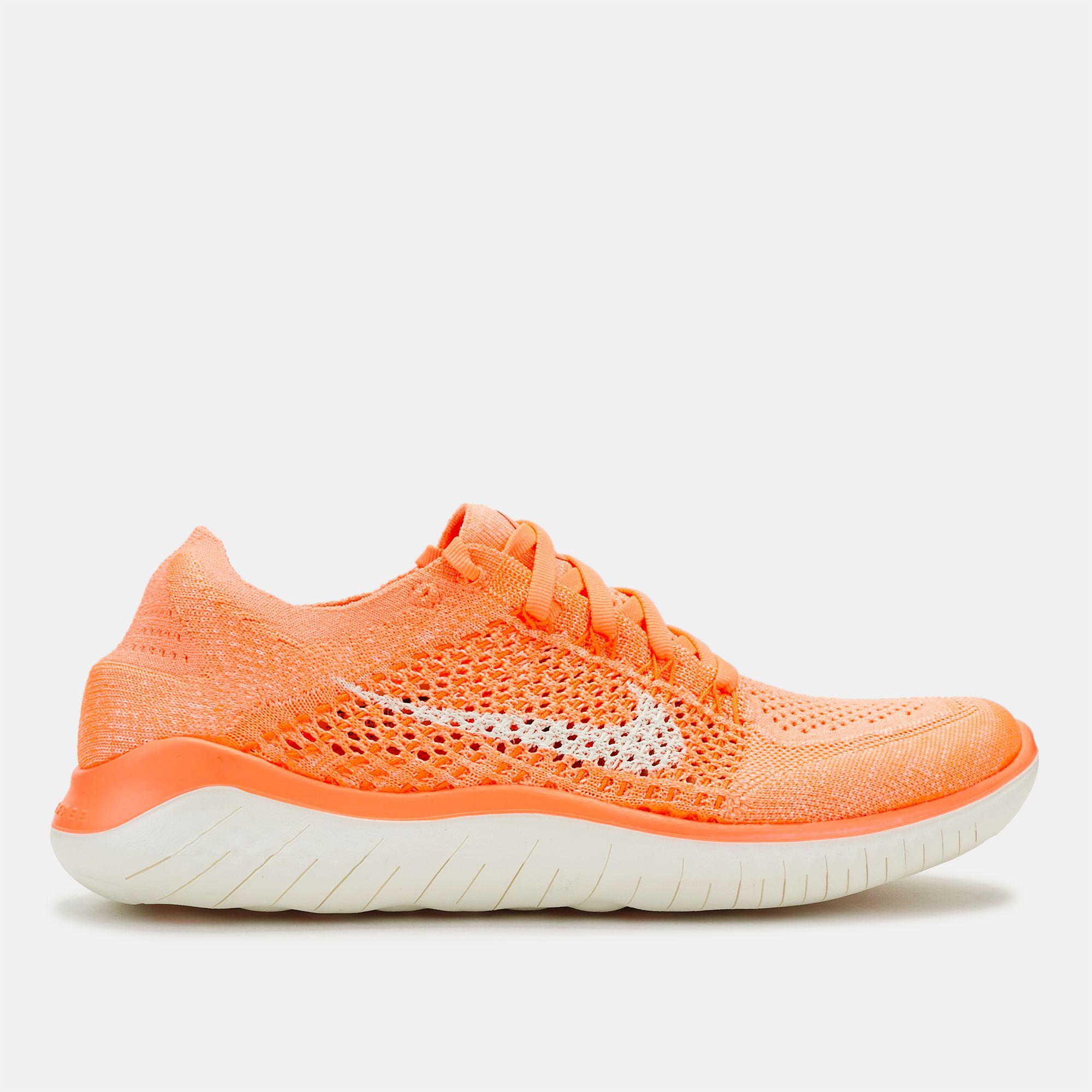 3922aece9f46 Shop Orange Nike Free RN Flyknit 2018 Shoe for Womens by Nike - 3