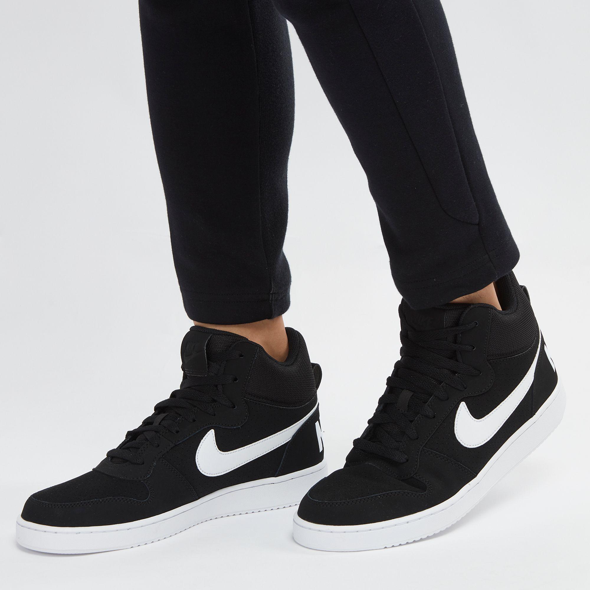 NIKE Nike men sneakers COURT BOROUGH MID SL coat Barlow mid SL 844,885 111 white white white white