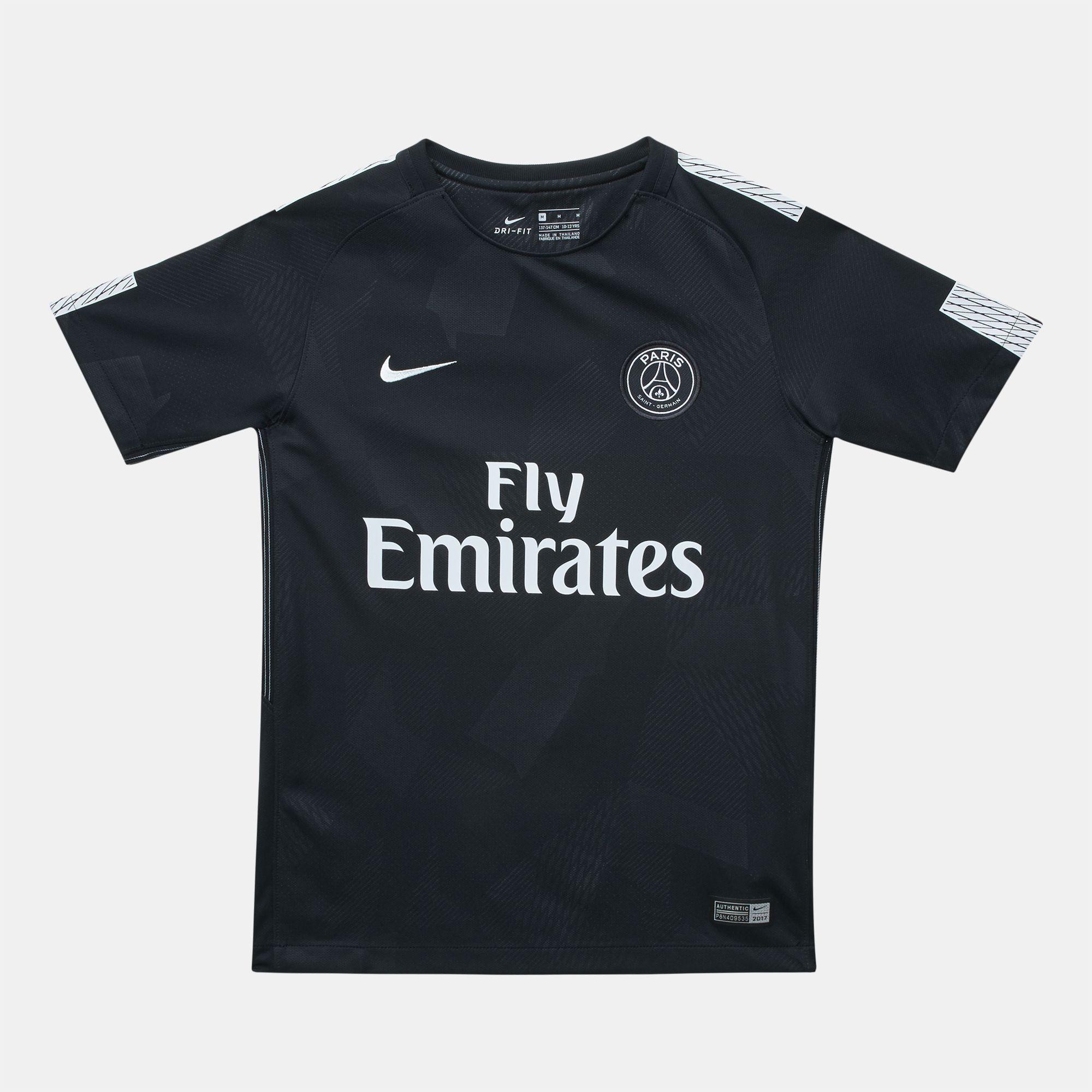 Shop Black Nike Kids  PSG Third Stadium Football Jersey for Kids by ... cf310435a