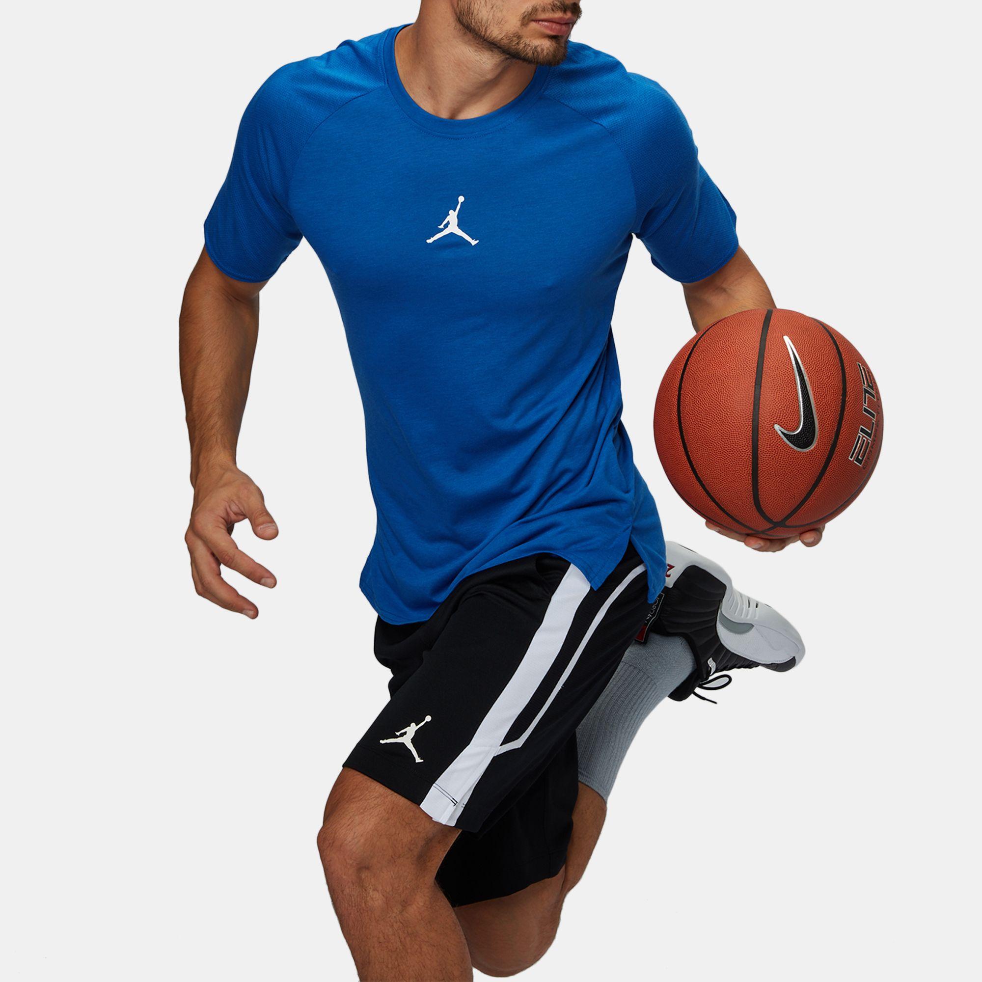 a20be0d31b0f61 Shop Blue Jordan Dri-FIT 23 Alpha Training T-Shirt for Mens by ...