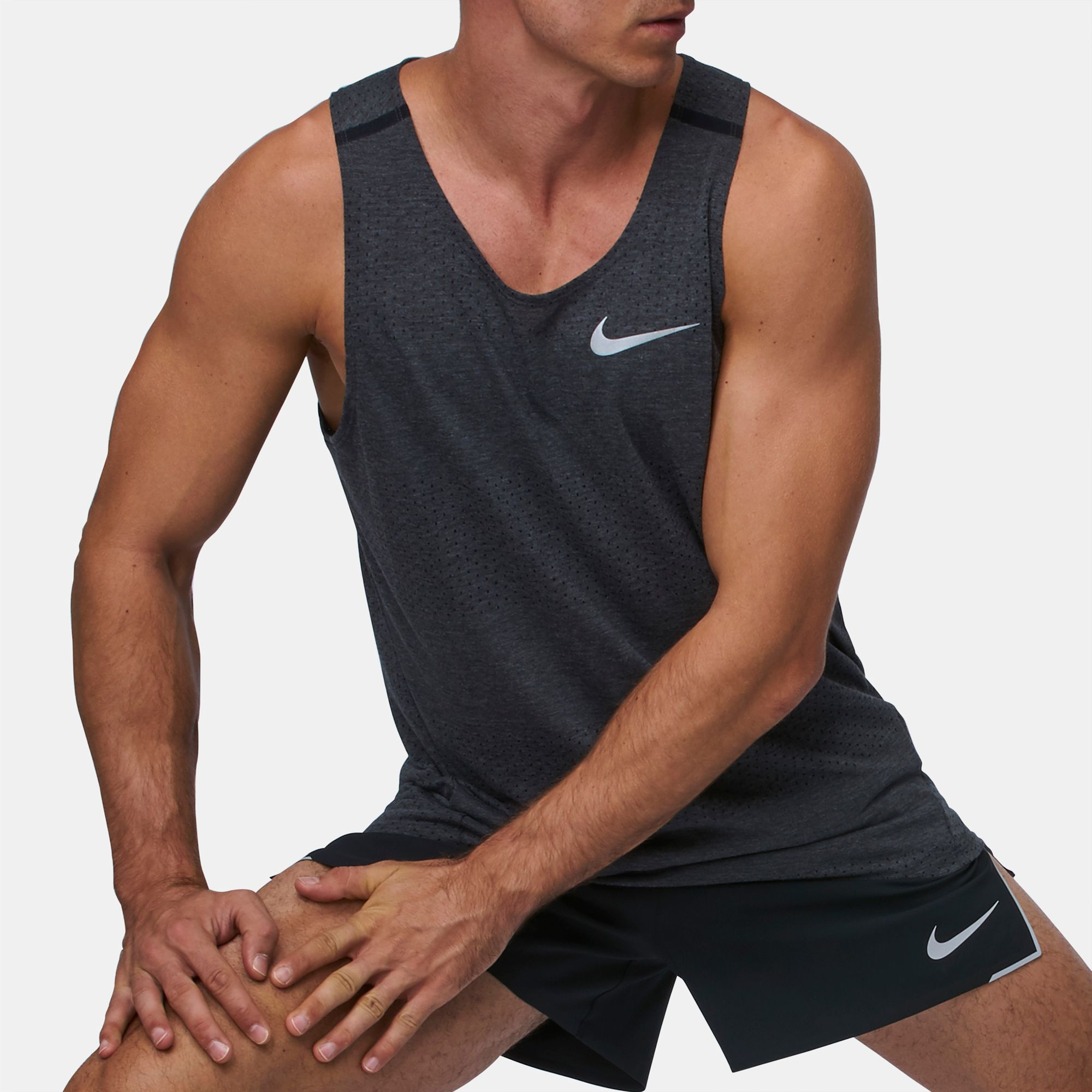 08cc33bf1f Shop Black Nike Breathe Tailwind Cool Tank Top for Mens by Nike | SSS
