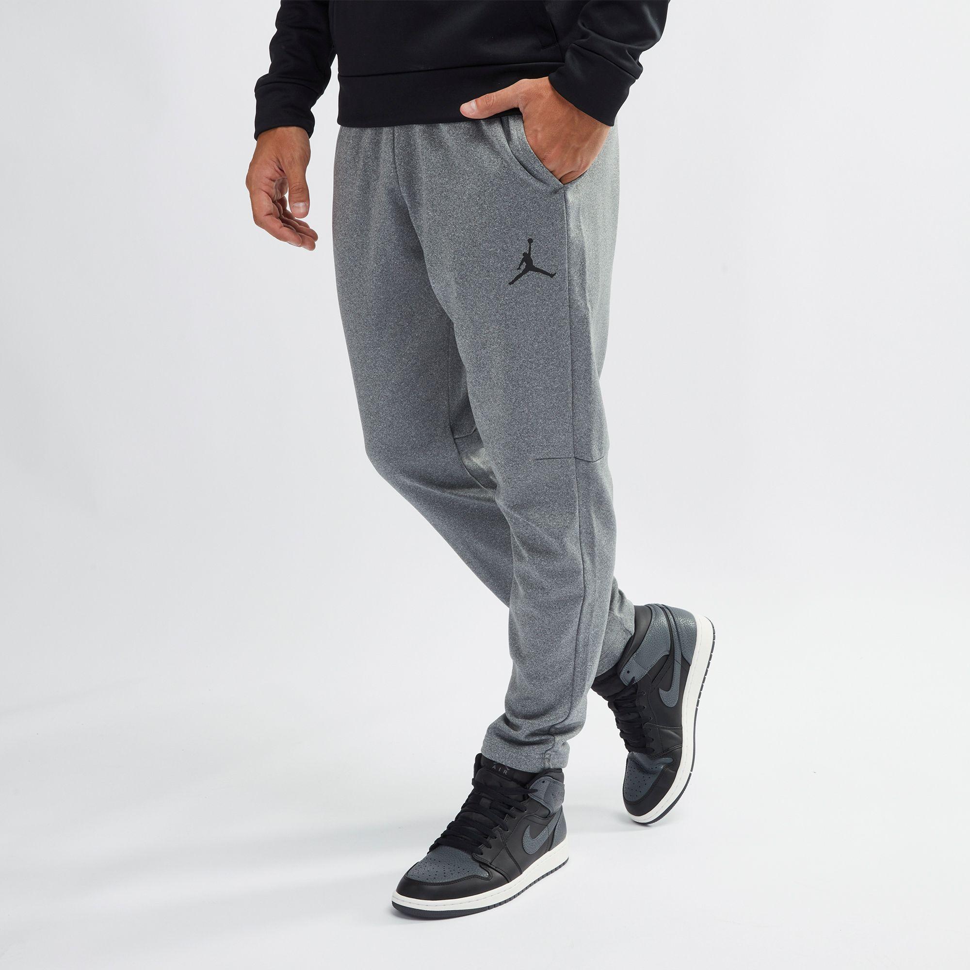 05f8c7f34fee9d Shop Grey Jordan Therma 23 Alpha Training Pants for Mens by Jordan