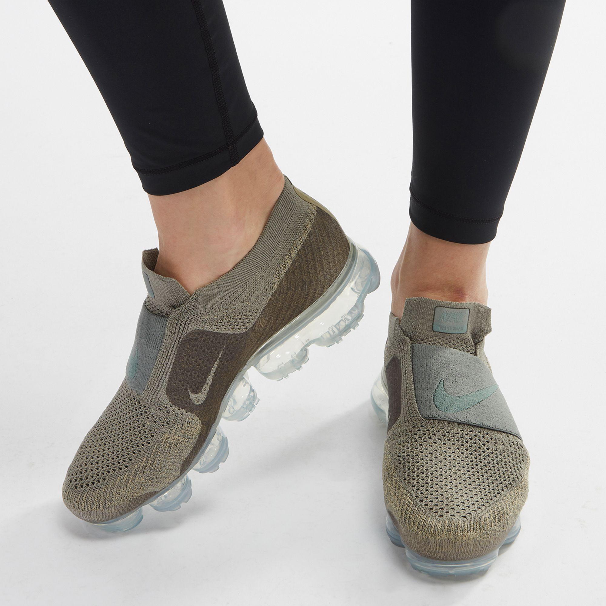 buy popular b6f3d 598ee Shop Green Nike Air VaporMax Flyknit Moc Running Shoe for ...