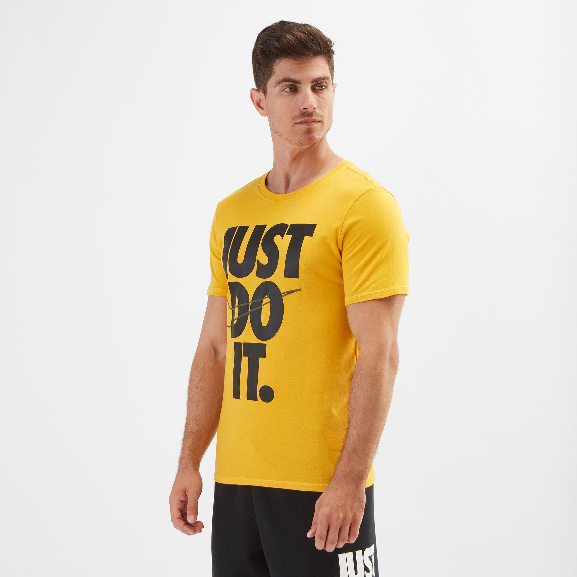 nike sportswear yellow shirt