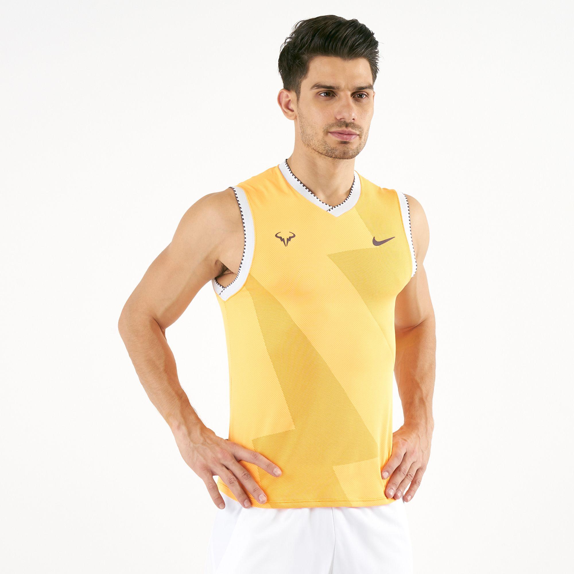 Nike Men S Court Aeroreact Rafael Nadal Sleeveless T Shirt T Shirts Tops Clothing Men S Sale Sale Sss