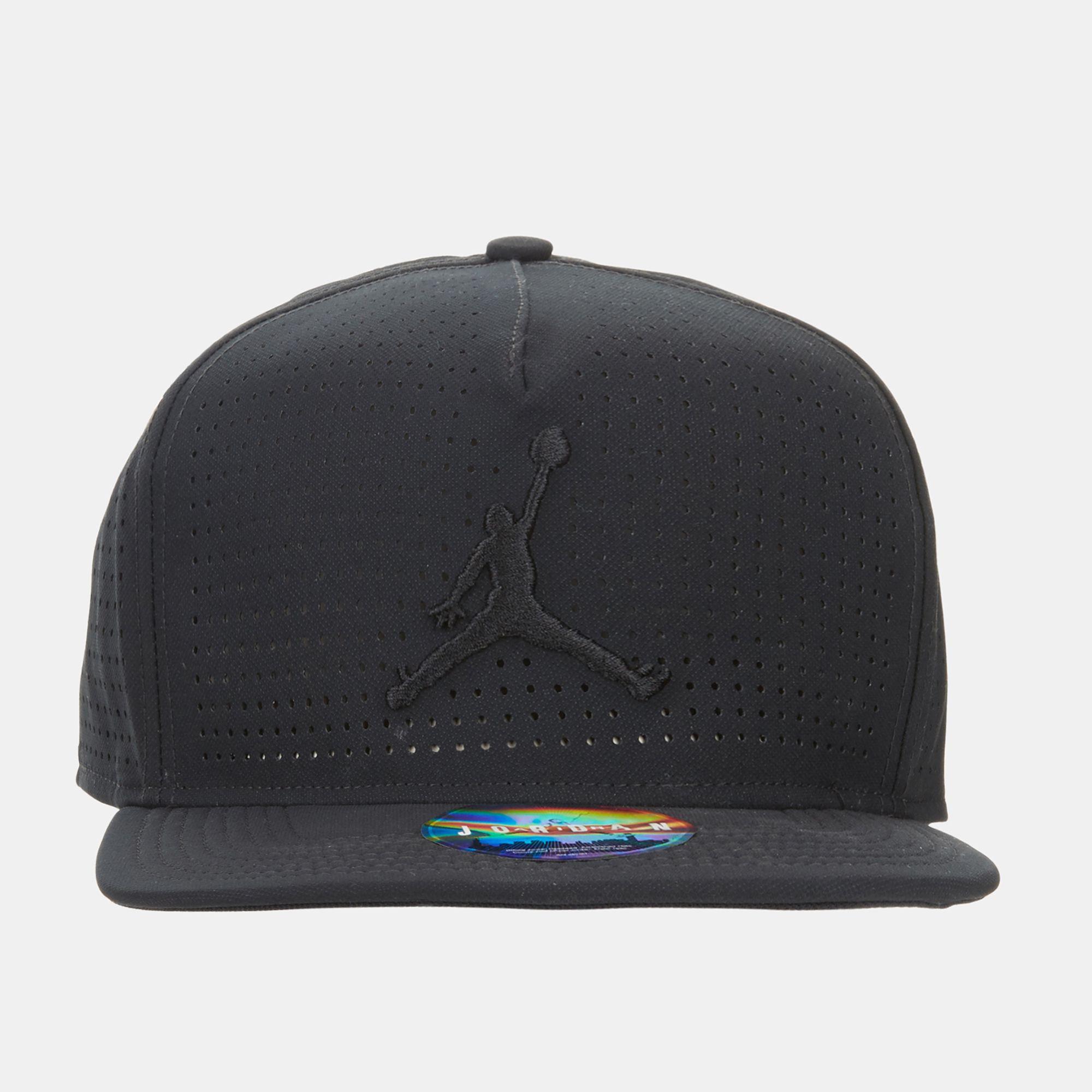 70c6666b6b8 Jordan Jumpman Perforated Snapback Cap - Black