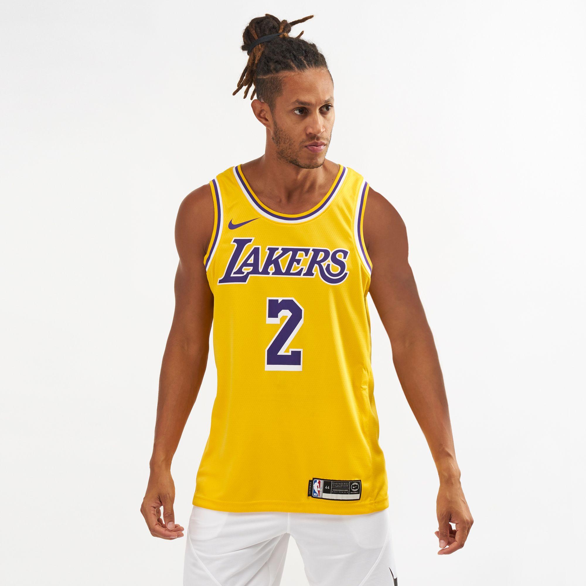 تيشيرت كرة السلة لوس أنجلوس ليكرز سوينجمان لونزو بول بلا أكمام