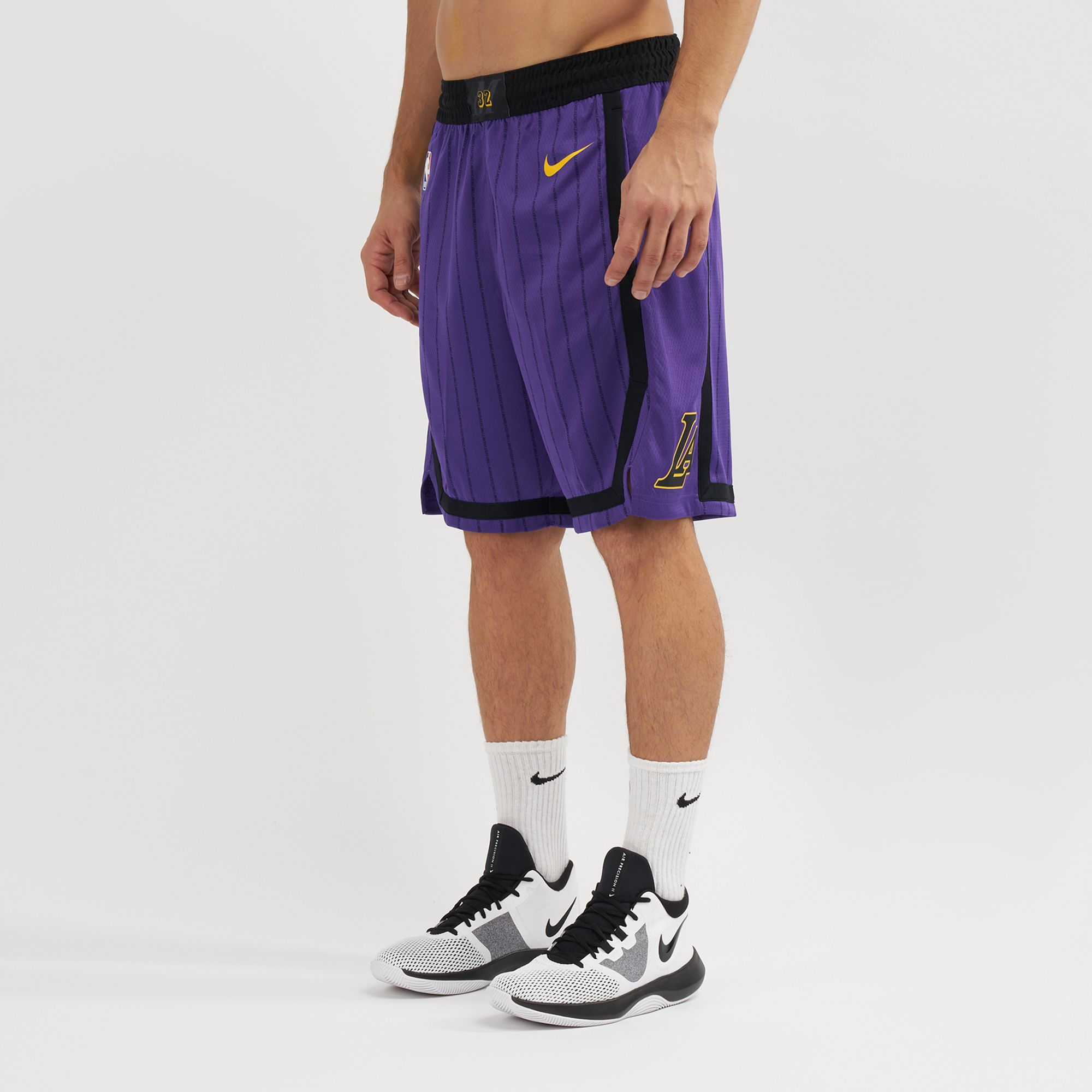 308394224ba Nike NBA Los Angeles Lakers Swingman City Edition Shorts - 2018 ...