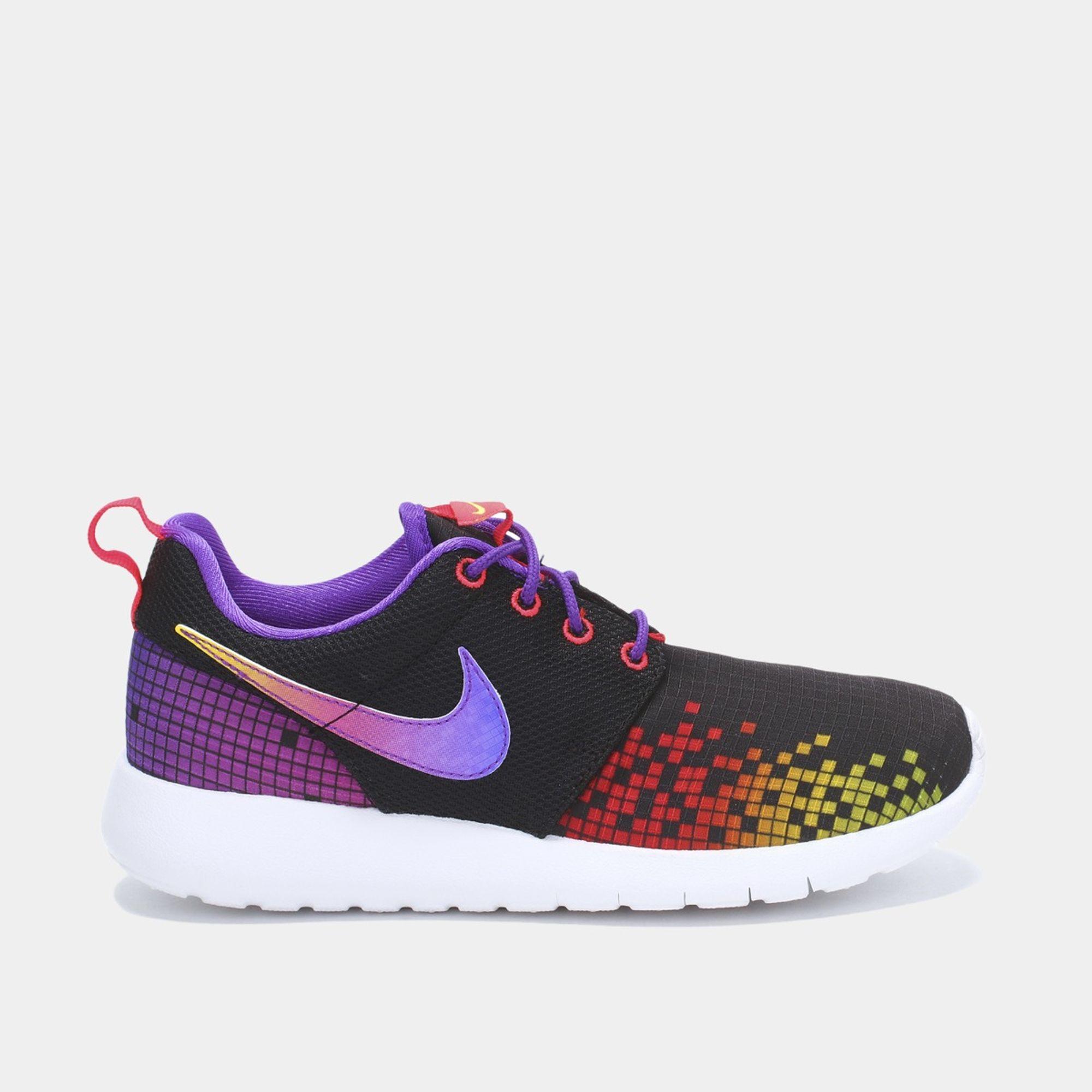 separation shoes 5b0eb 94536 Shop Black Nike Roshe One Print (Grade School) Shoe for Kids ...
