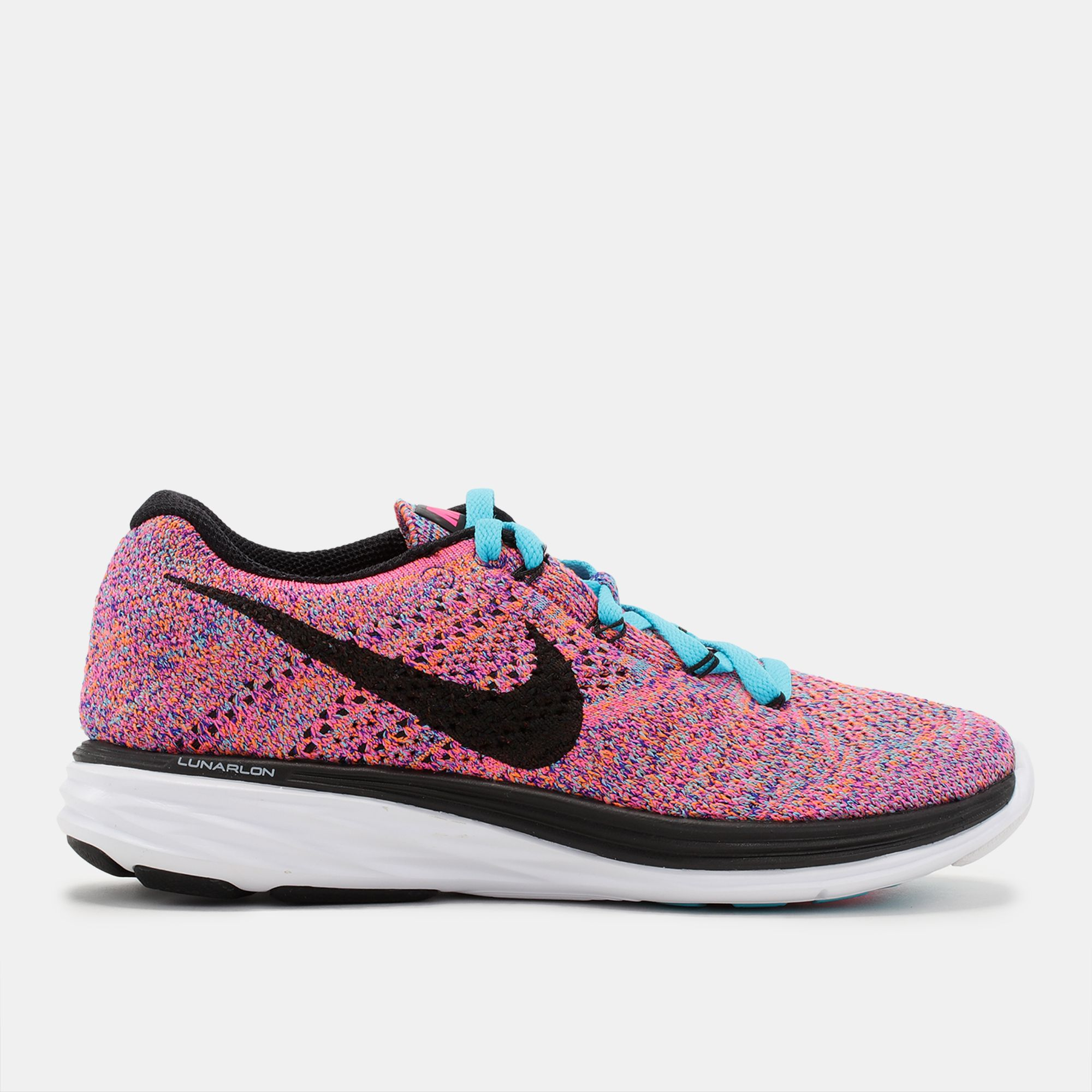 8b126cdb3e1c Shop Multi Nike Woven Flyknit Lunar 3 Running Shoe for Womens by ...