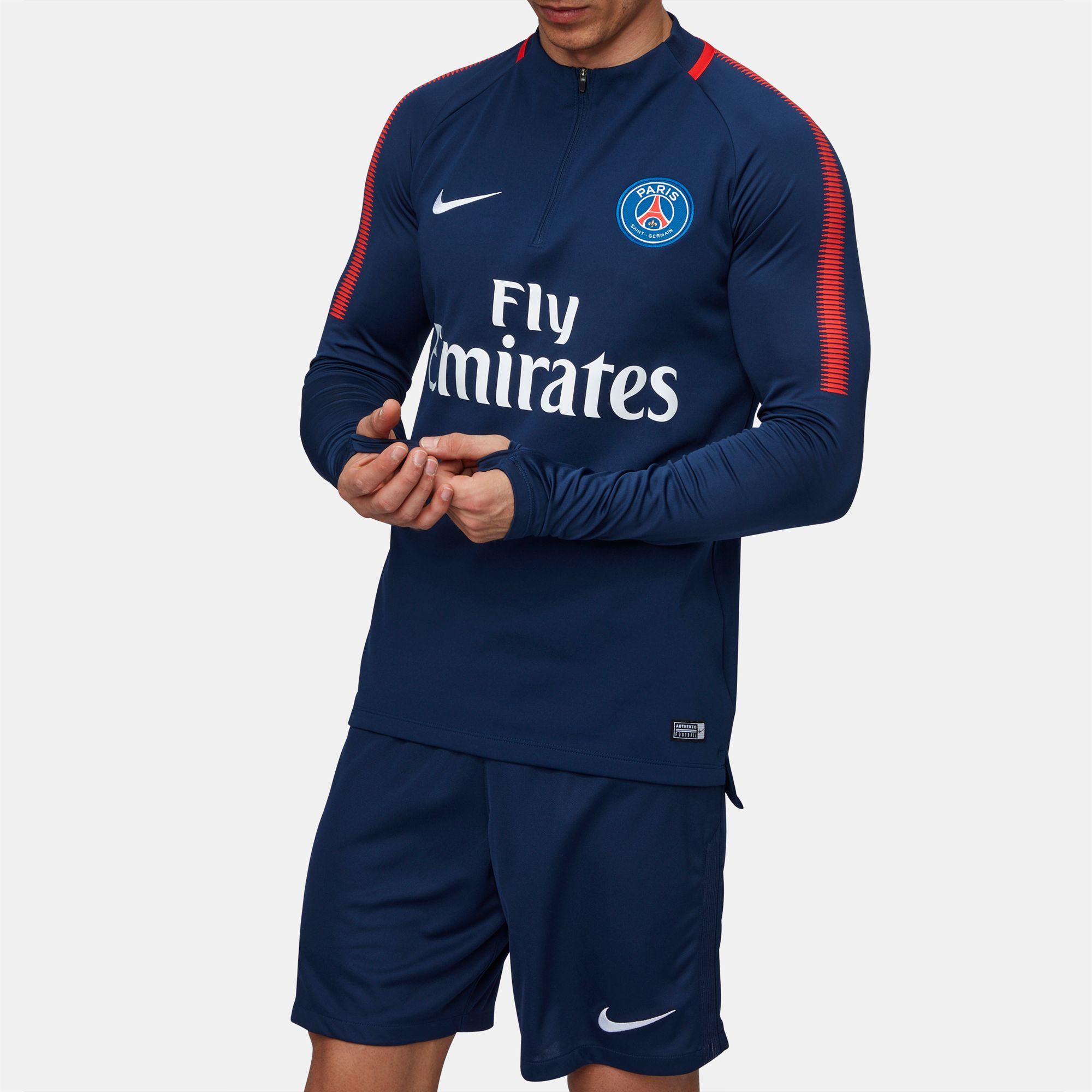 42a596c89 Shop Blue Nike Paris Saint-Germain Dri-FIT Squad Drill Long Sleeve T ...