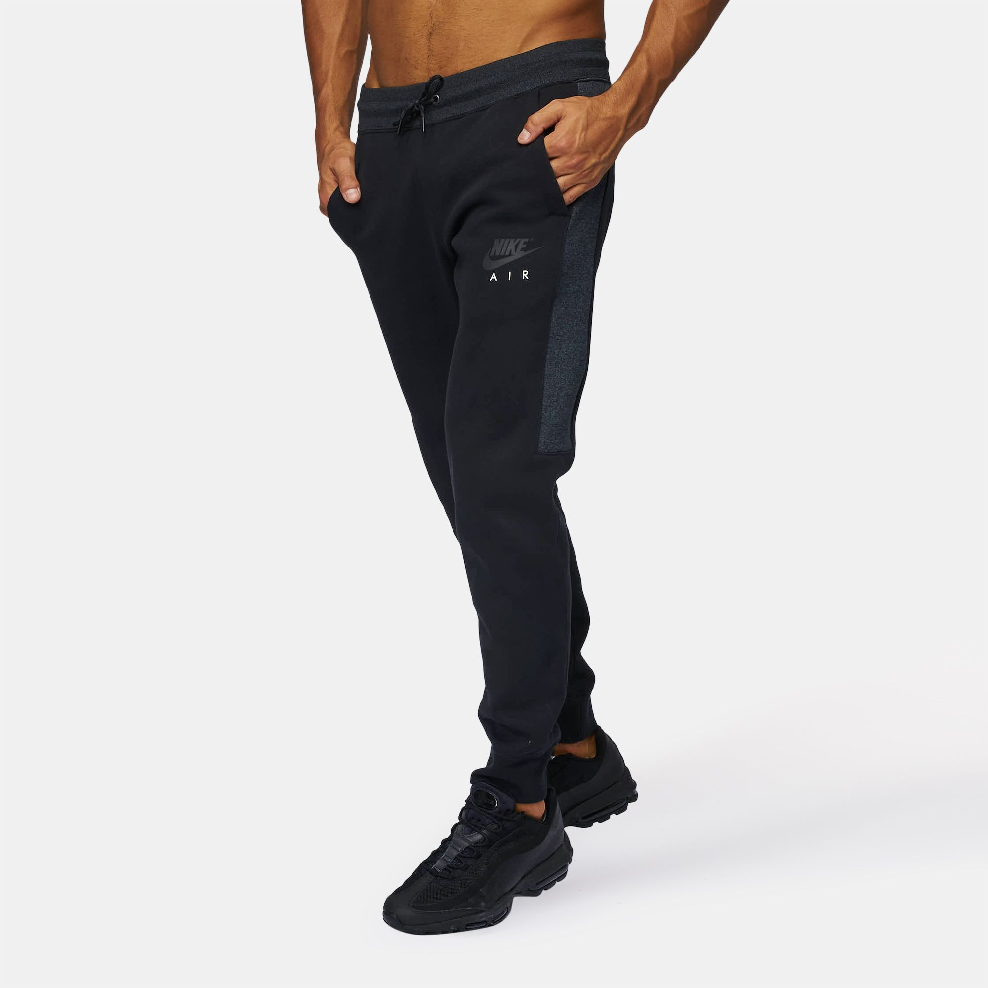 3e87fa9ec Shop Grey Nike Sportswear Air Fleece Jogger Pants for Mens by Nike ...