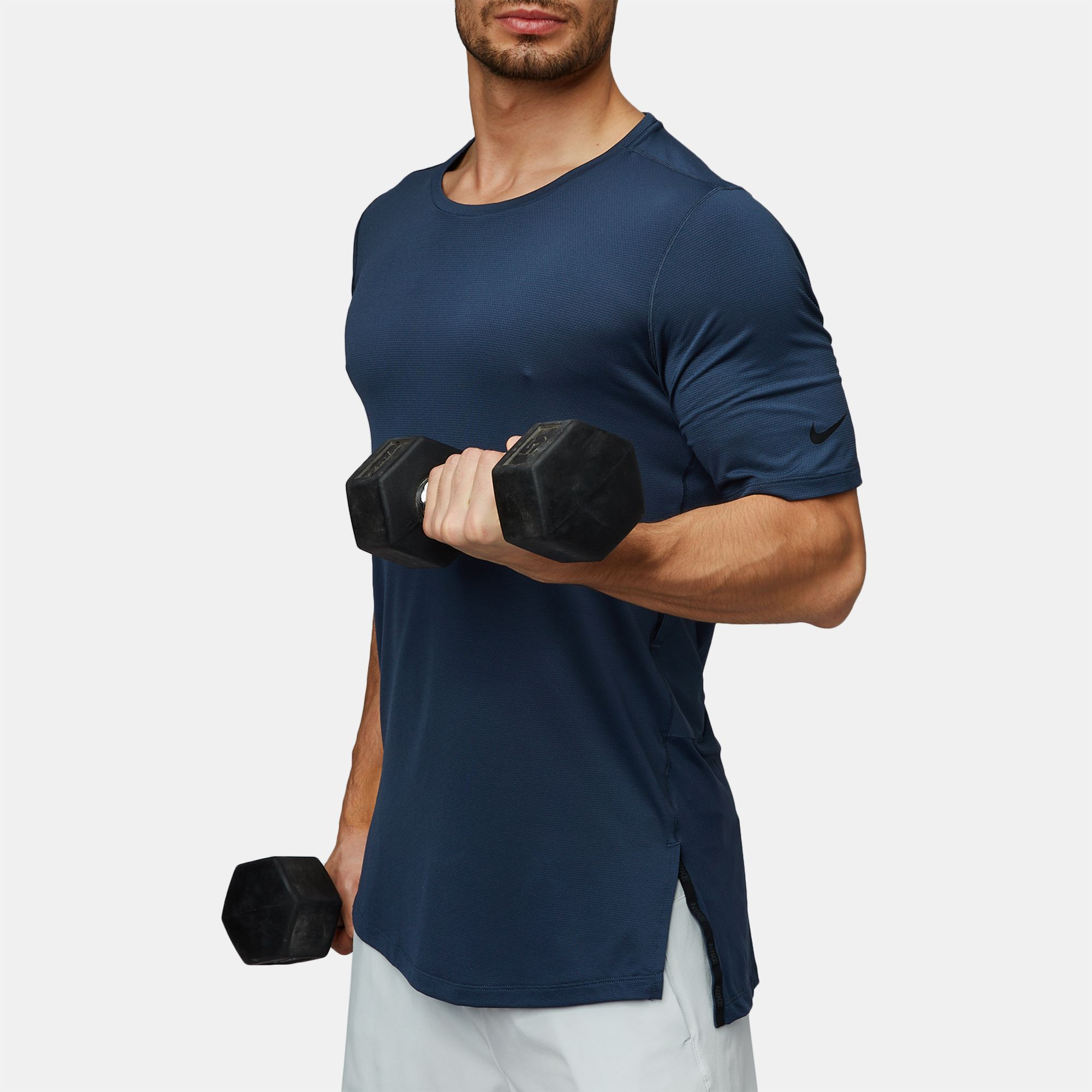 079f8fc4 Shop Blue Nike Utility Fitted Training T-Shirt for Mens by Nike | SSS