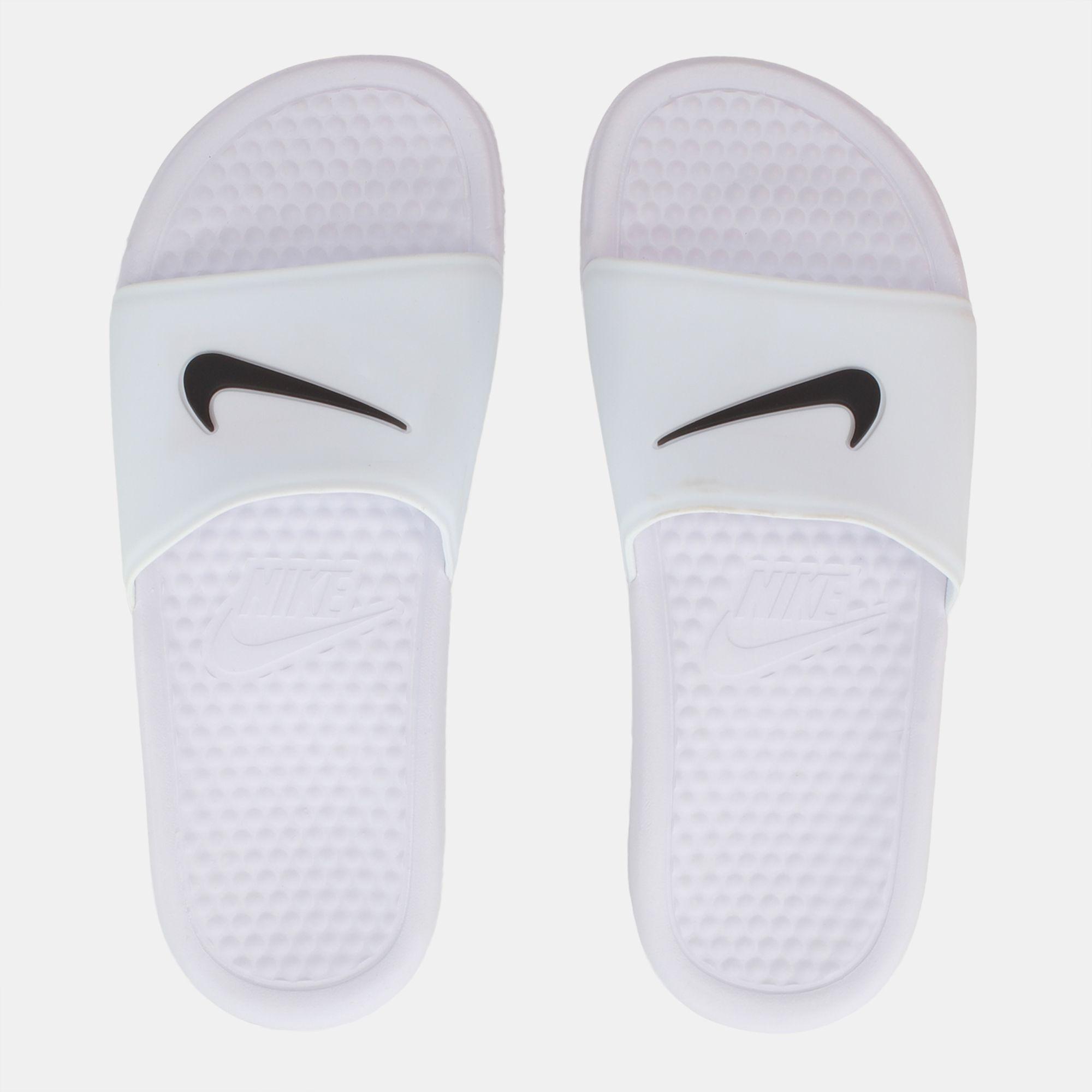 149f6bb99487 Shop White Nike Benassi Shower Slide for Womens by Nike