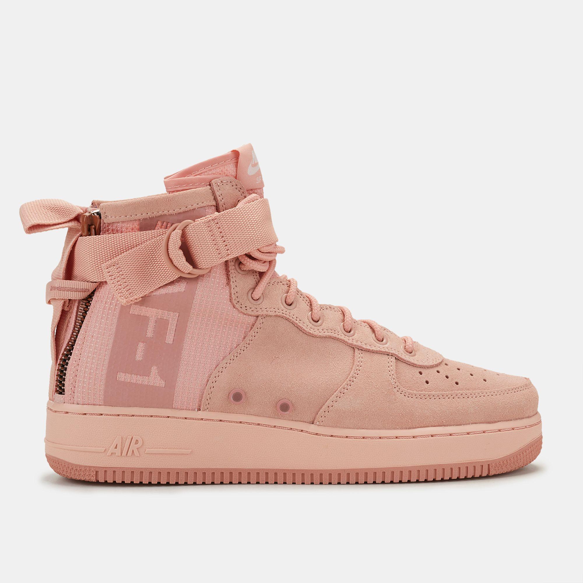 autêntico design único bonito barato air force suede rosa